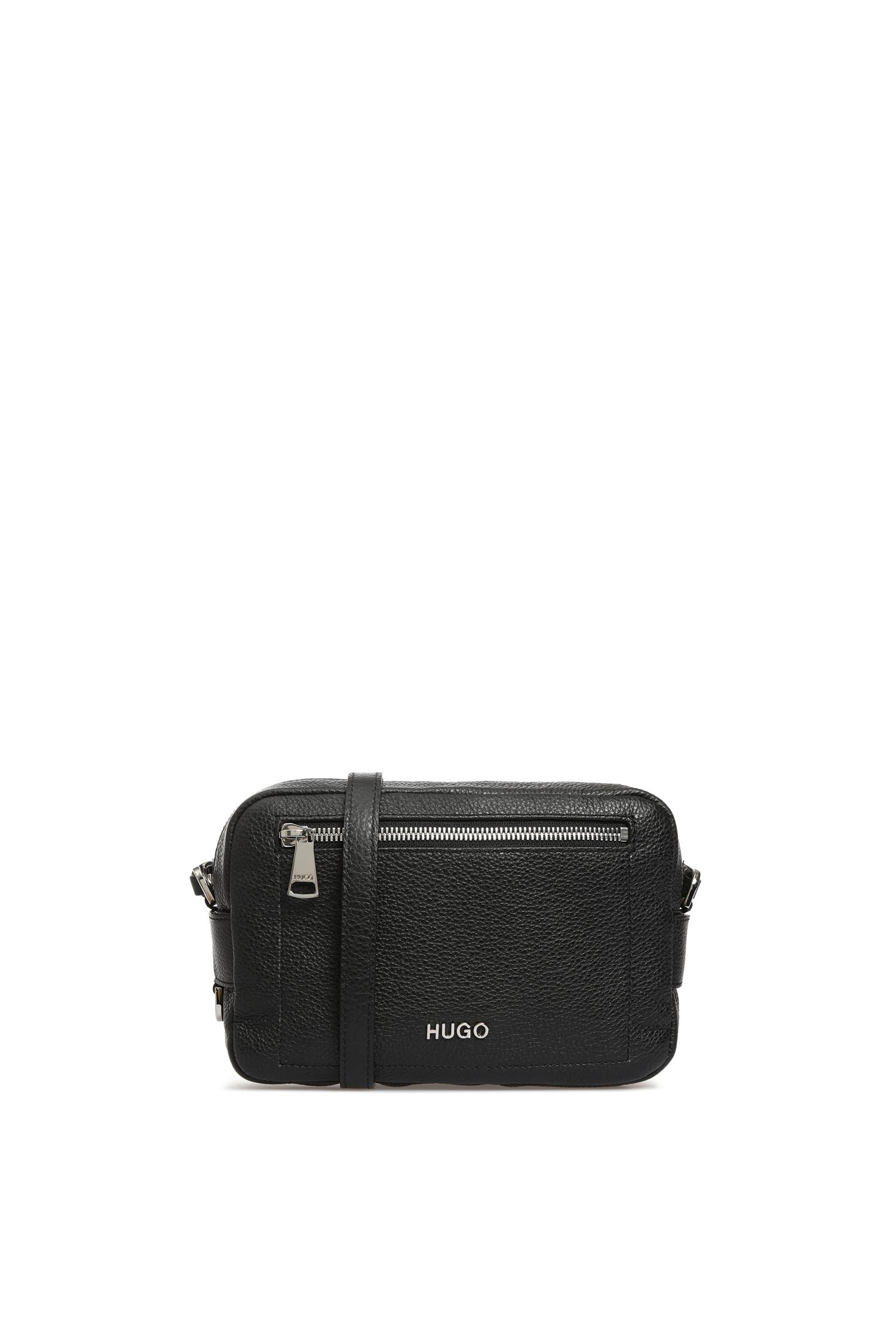 Черная кожаная сумка через плечо для девушек HUGO 50424259;001
