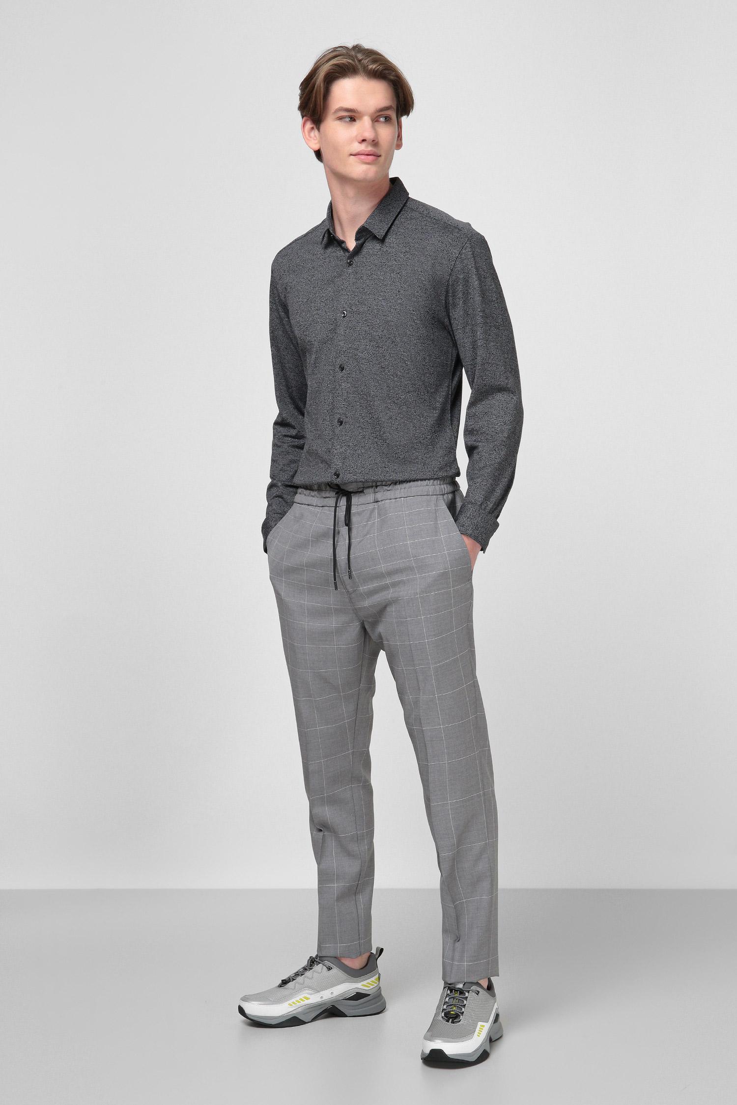 Темно-серая рубашка Extra Slim Fit для парней HUGO 50426553;001