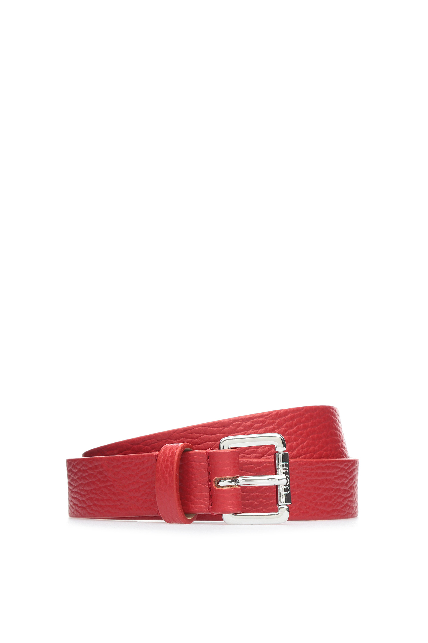 Красный кожаный ремень для девушек HUGO 50390257;621