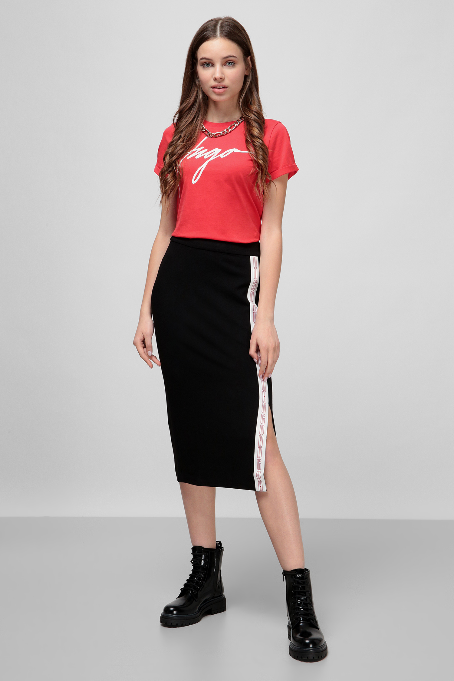 Черная юбка для девушек HUGO 50430035;001