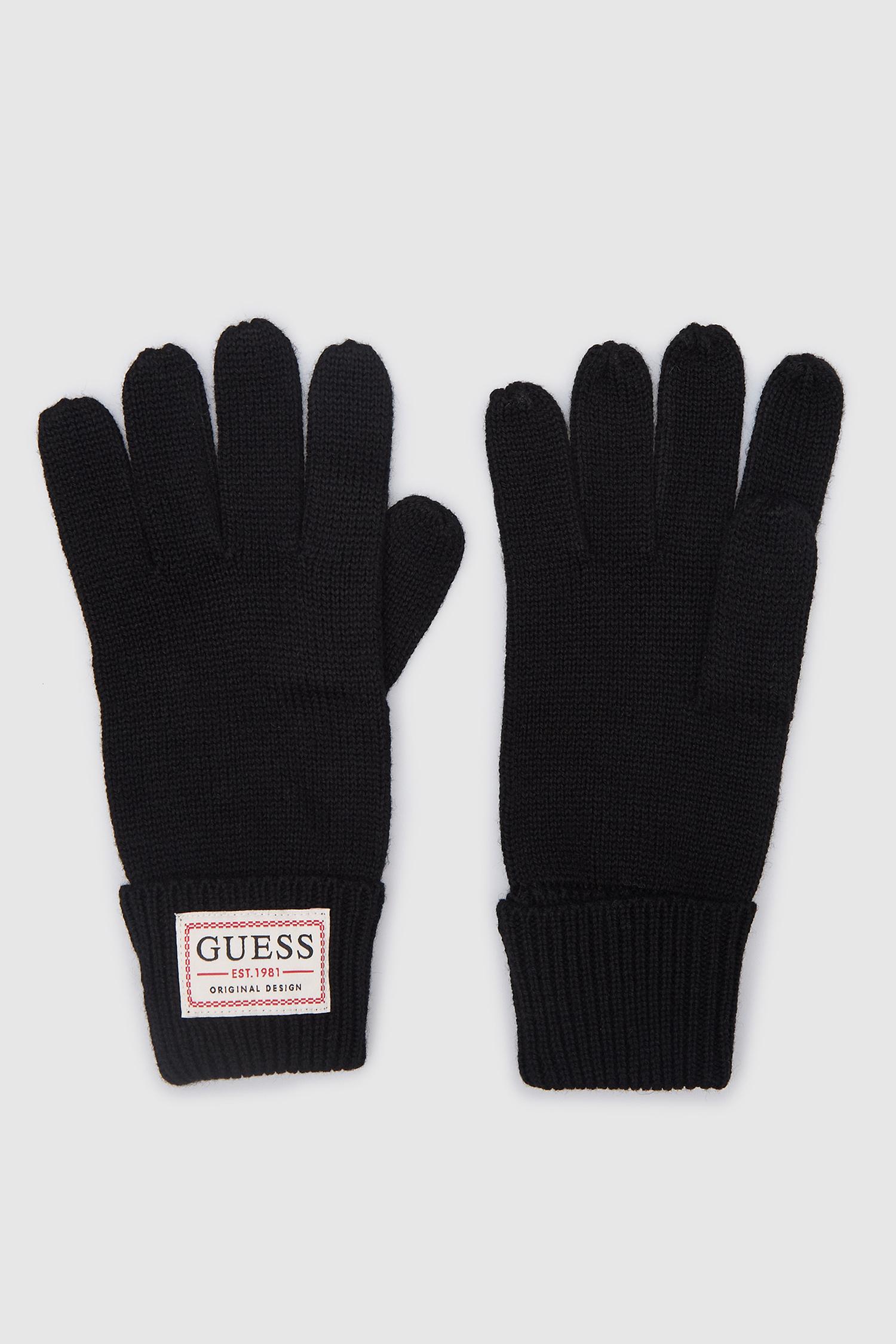 Черные перчатки для парней Guess AM8730.WOL02;BLA