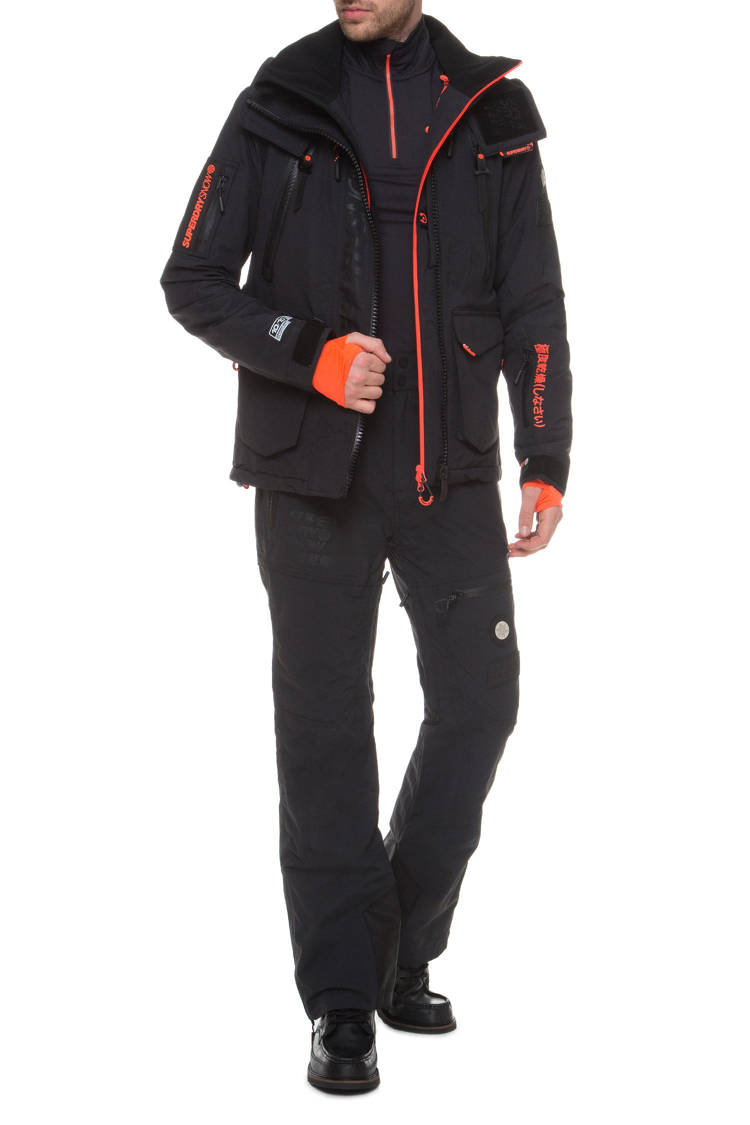Мужские черные лыжные брюки Snow Active SuperDry MS1303SU;UHL