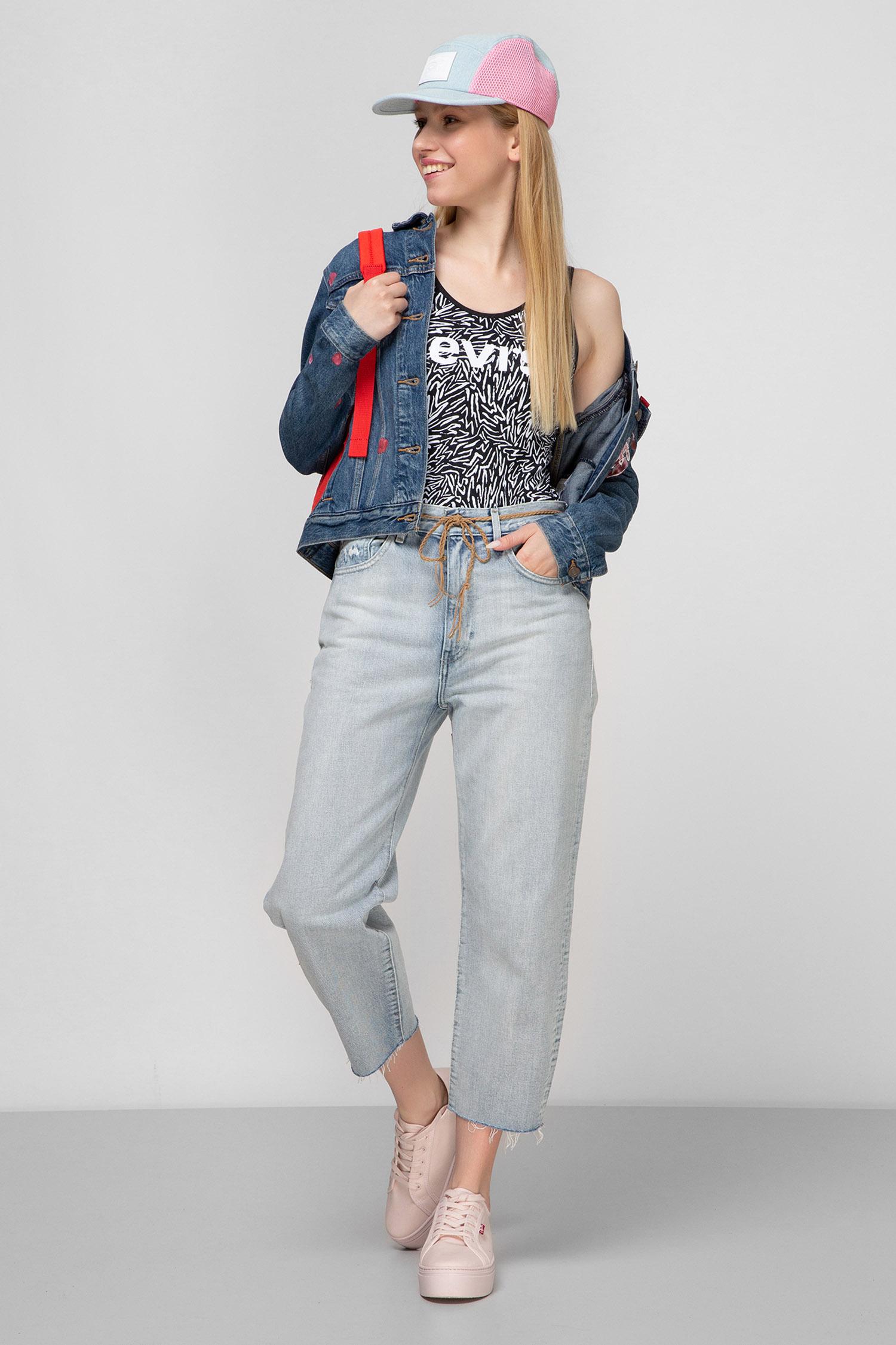 Женские голубые джинсы Barrel Crop Made & Crafted Levi's 29315;0015