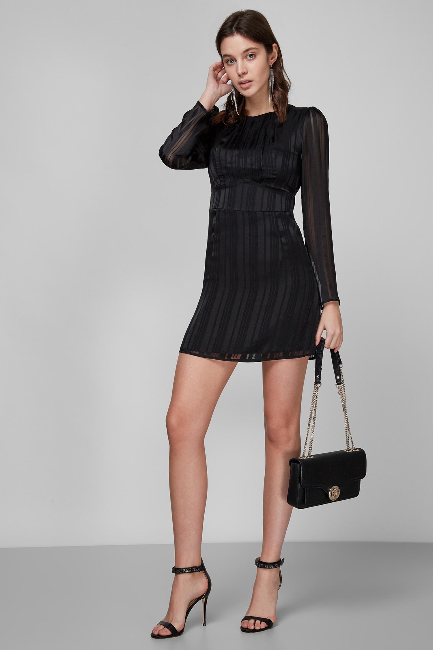 Женское черное платье Guess W1RK0O.WDON2;JBLK