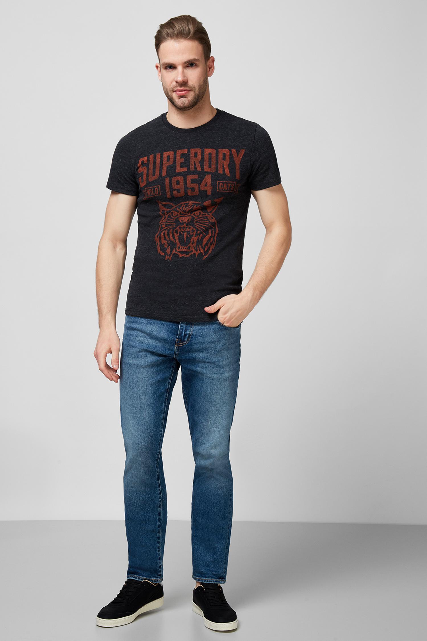Мужская черная футболка SuperDry M1010417A;3TF