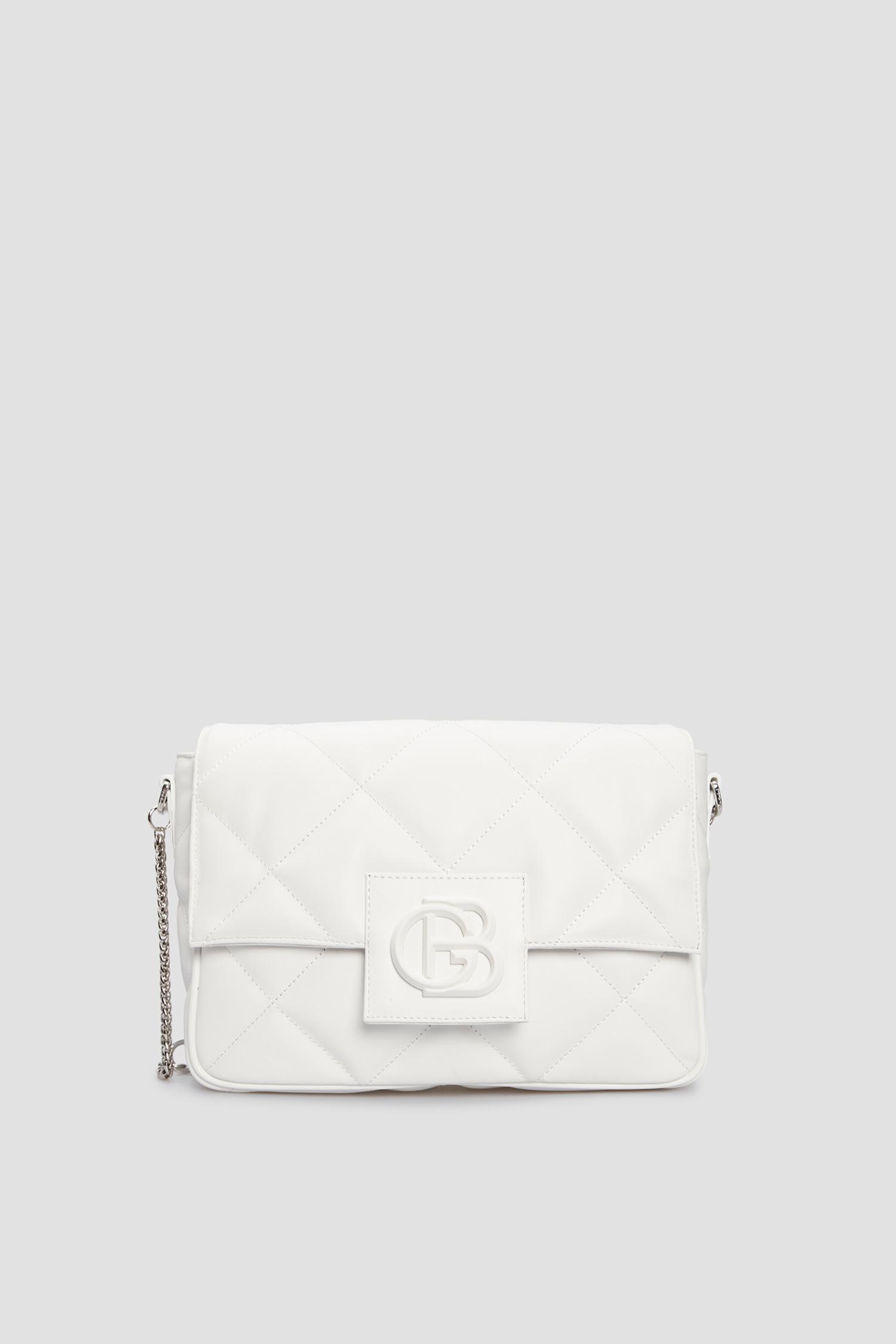 Женская белая кожаная сумка через плечо Baldinini 170204;9002