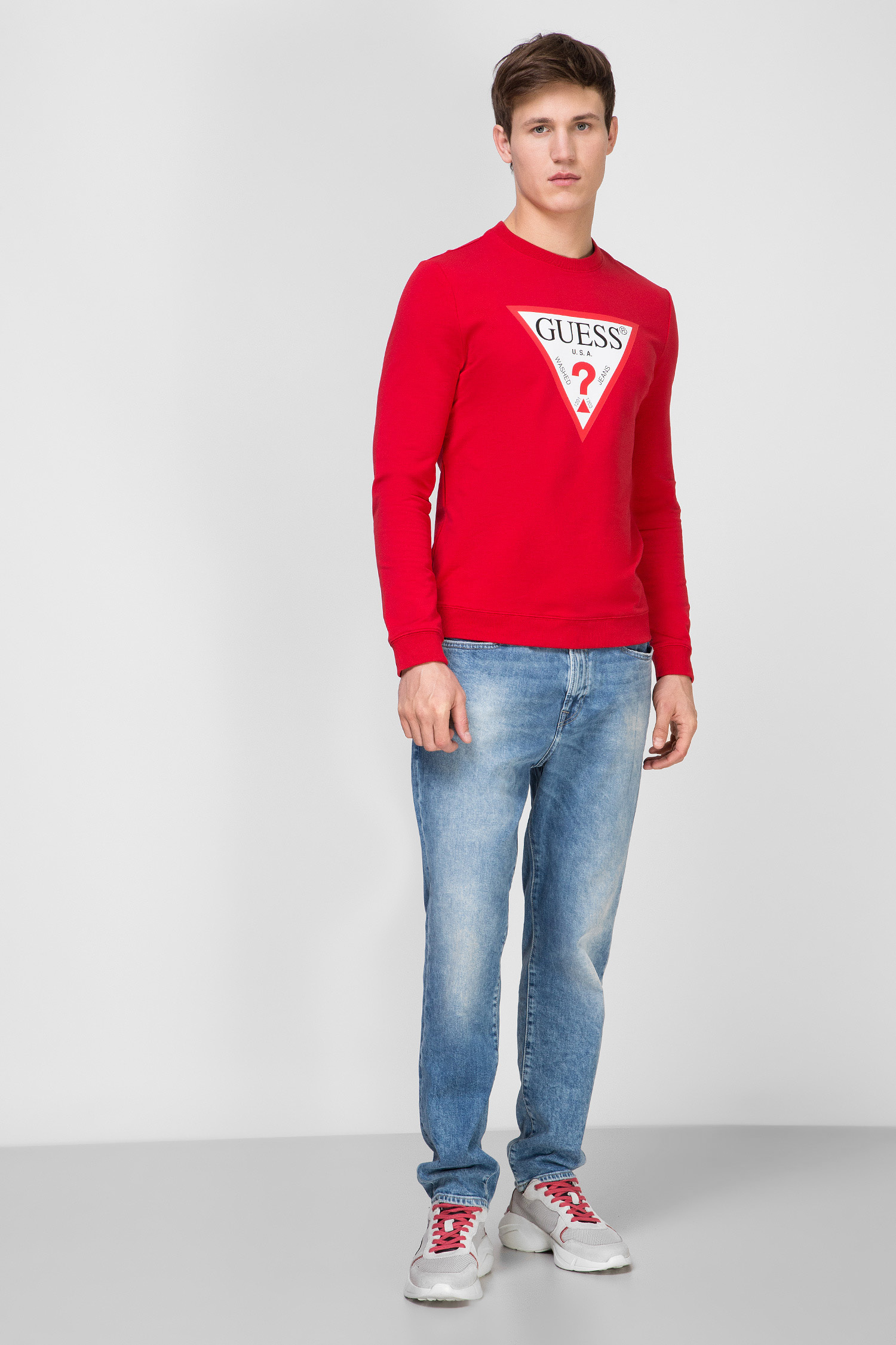 Мужской красный свитшот Guess M02Q37.K6ZS0;TLRD