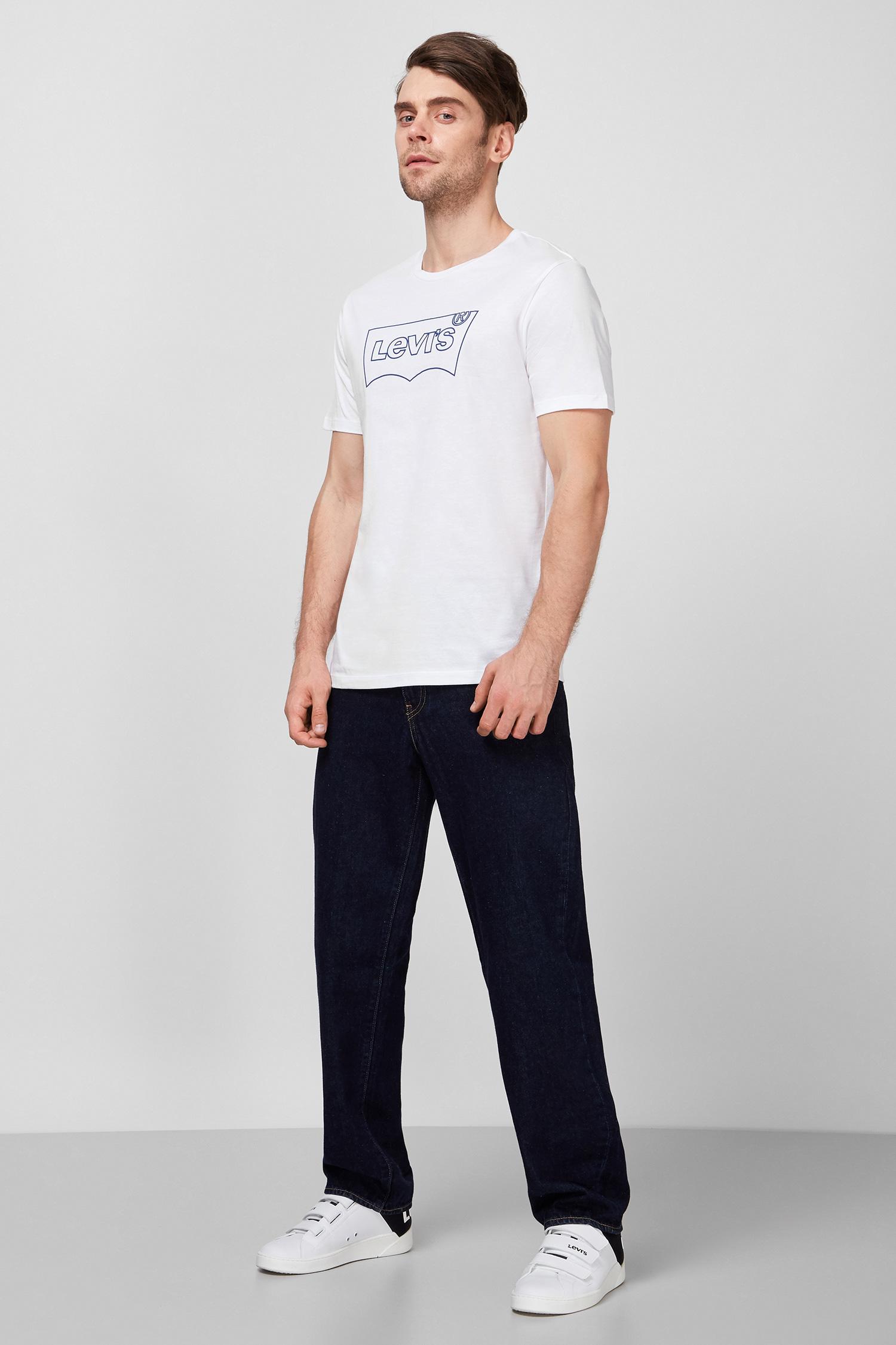 Мужская белая футболка с принтом Levi's 22489;0296