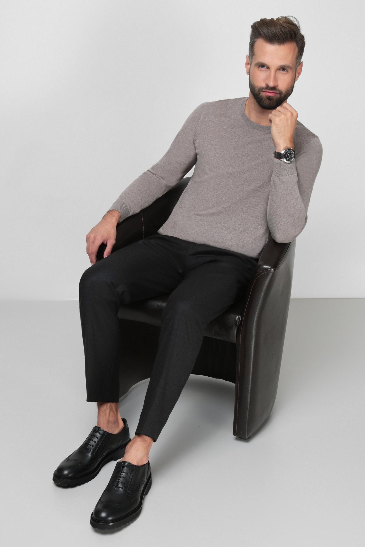 Чоловічі чорні вовняні брюки BOSS 50458788;061