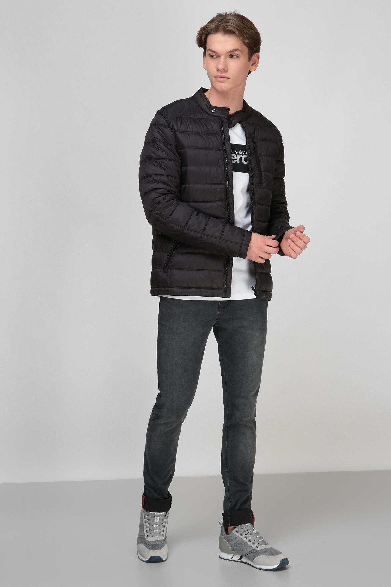 Черная куртка для парней SuperDry M5010332A;02A