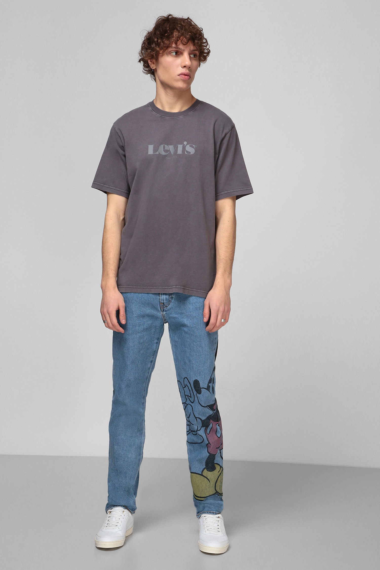 Мужская серая футболка Levi's 16143;0227