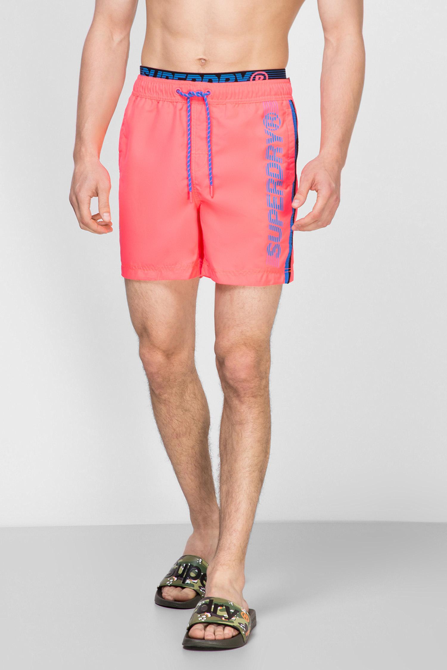 Чоловічі рожеві плавальні шорти SuperDry M3010010A;0UZ