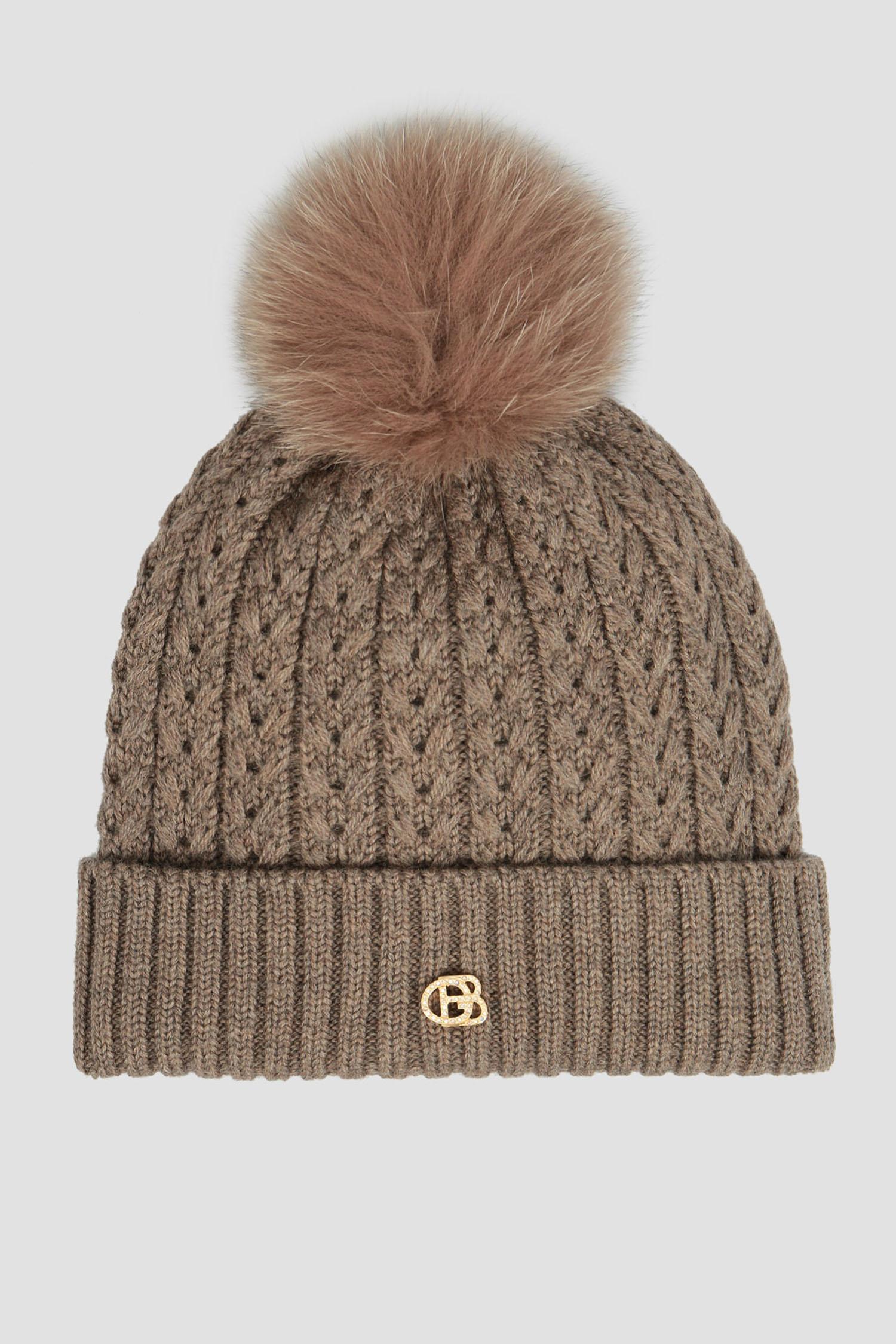 Женская бежевая шерстяная шапка Baldinini 121517;30