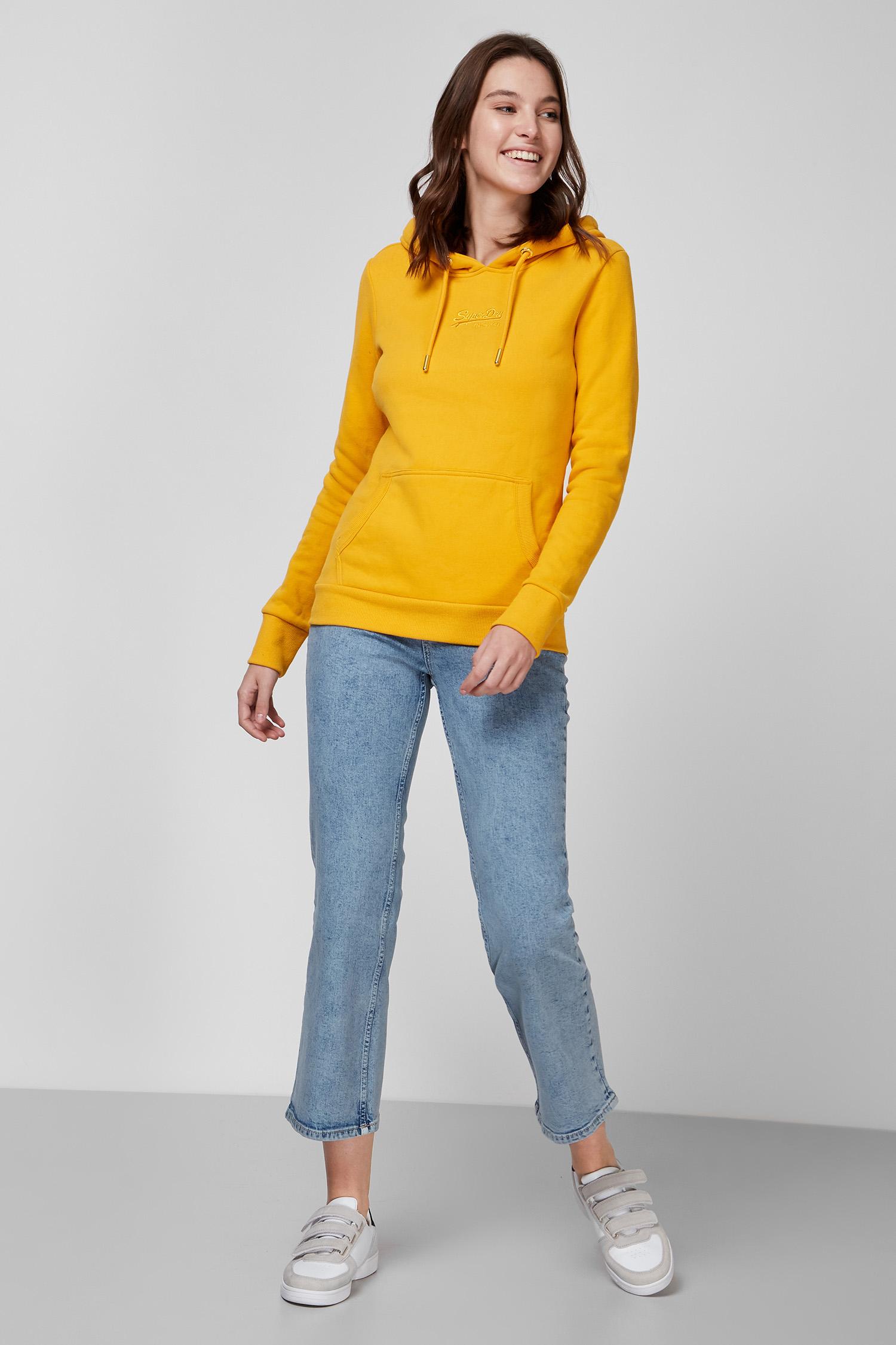 Женское желтое худи SuperDry W2010346A;PG5