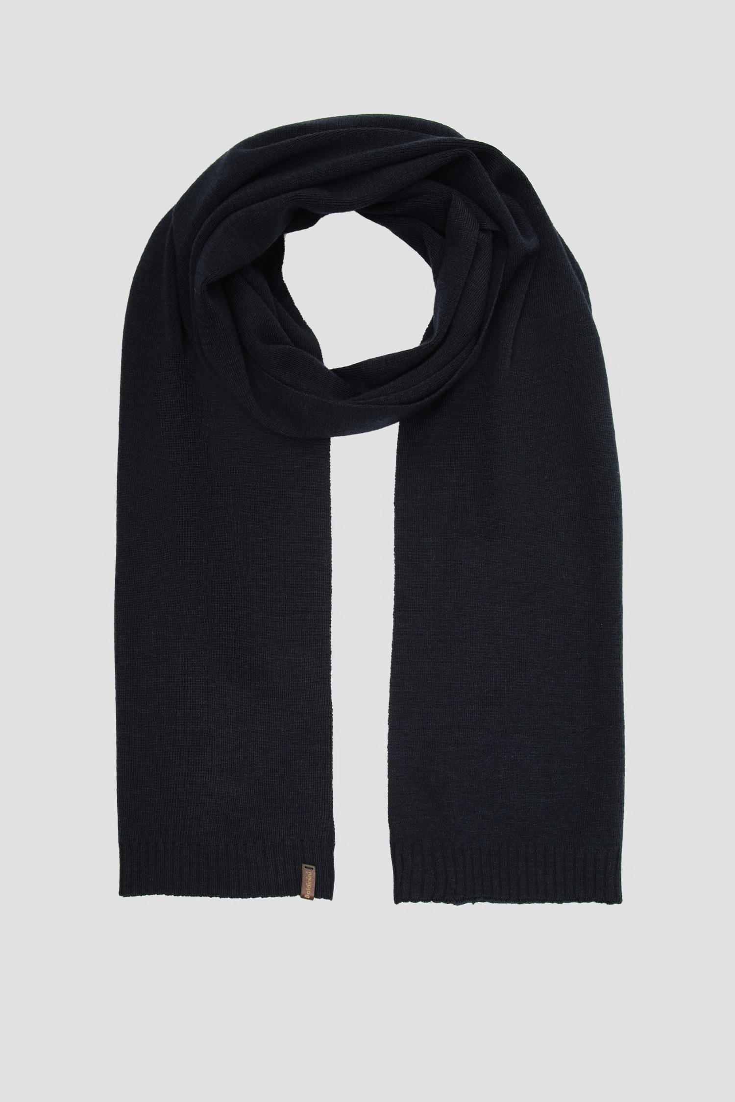 Мужской темно-синий шерстяной шарф Baldinini 128004;10