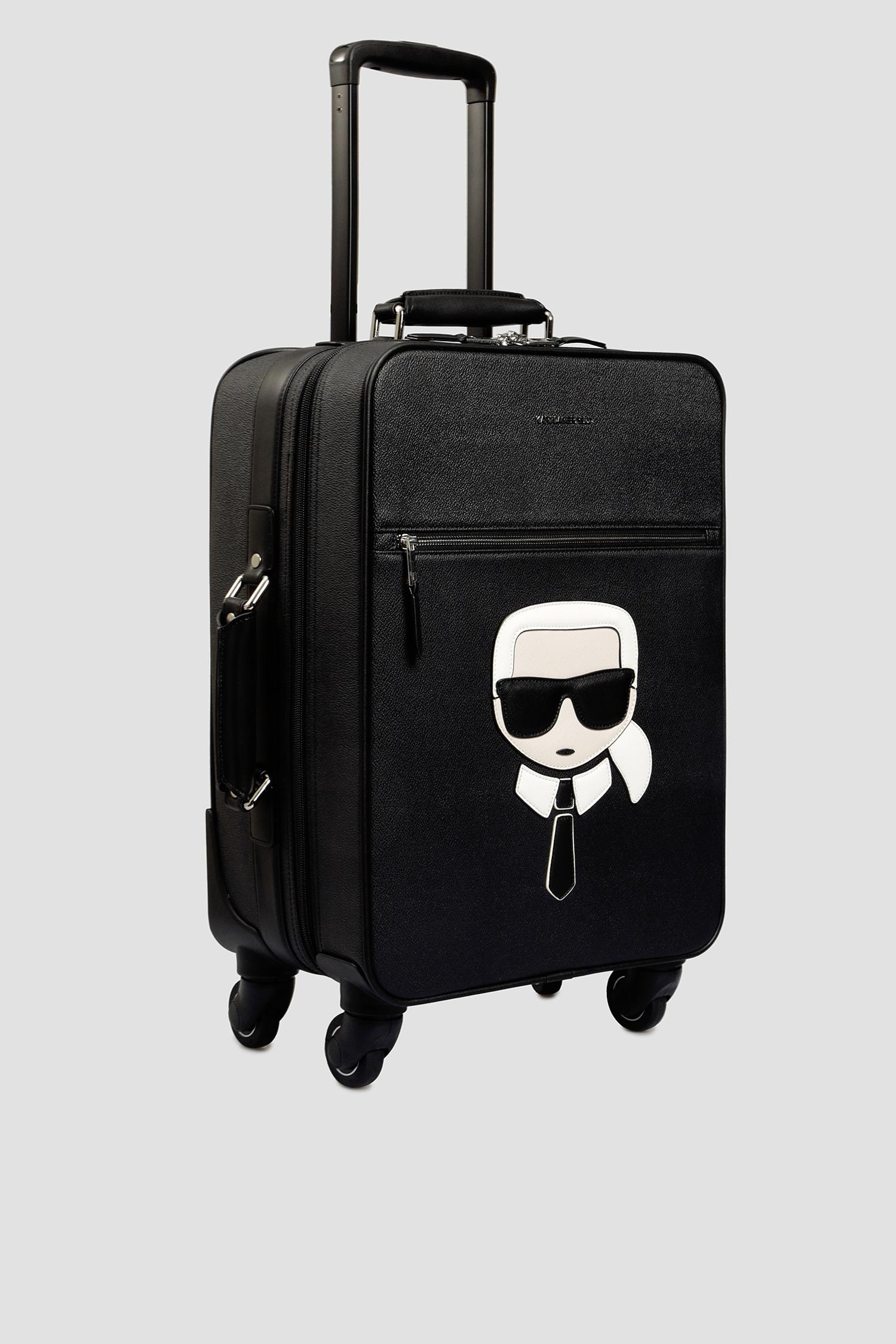 Мужской черный чемодан Karl Lagerfeld 501199.805910;990