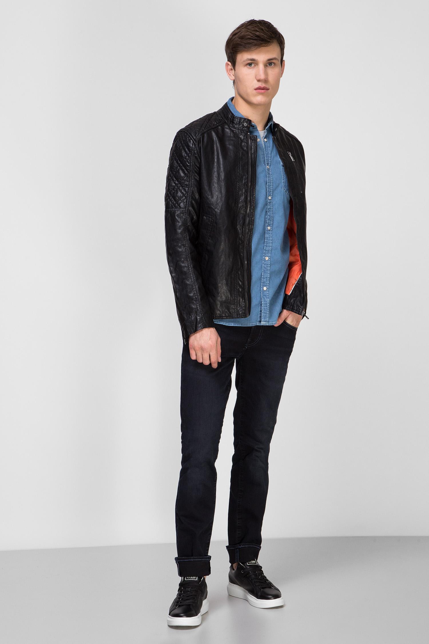 Мужская черная куртка Guess M02L46.WCQD0;JBLK