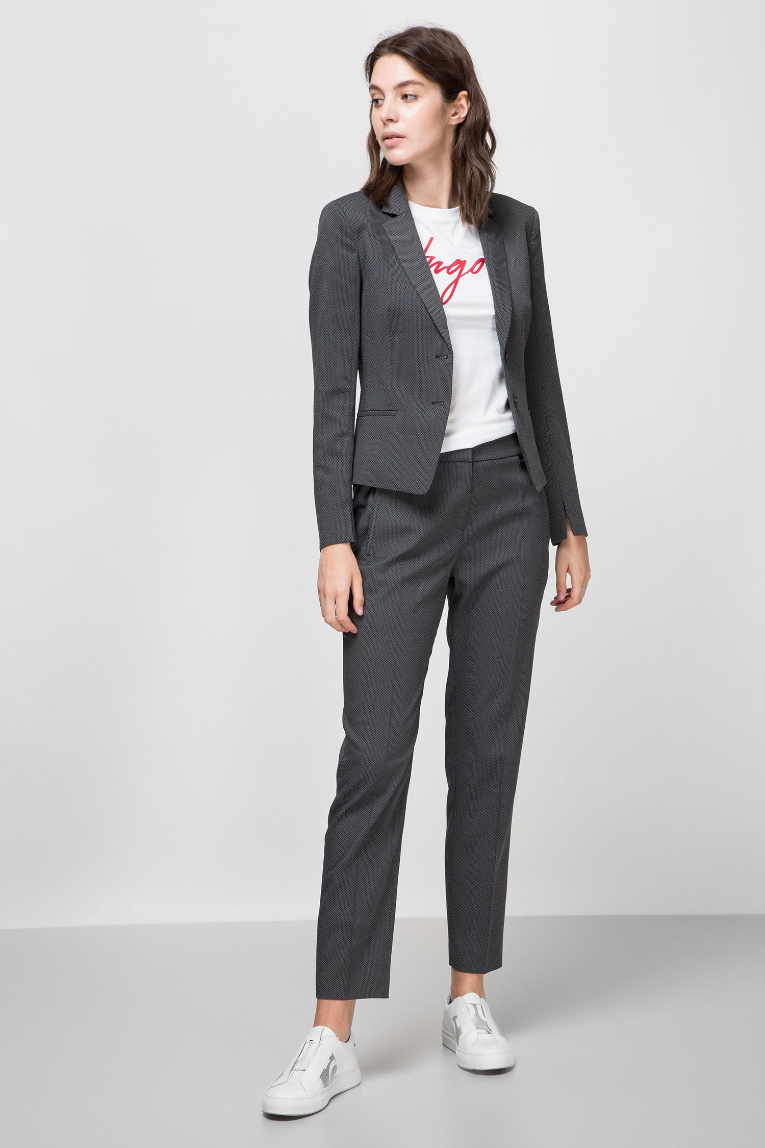 Женские серые брюки HUGO 50432565;001