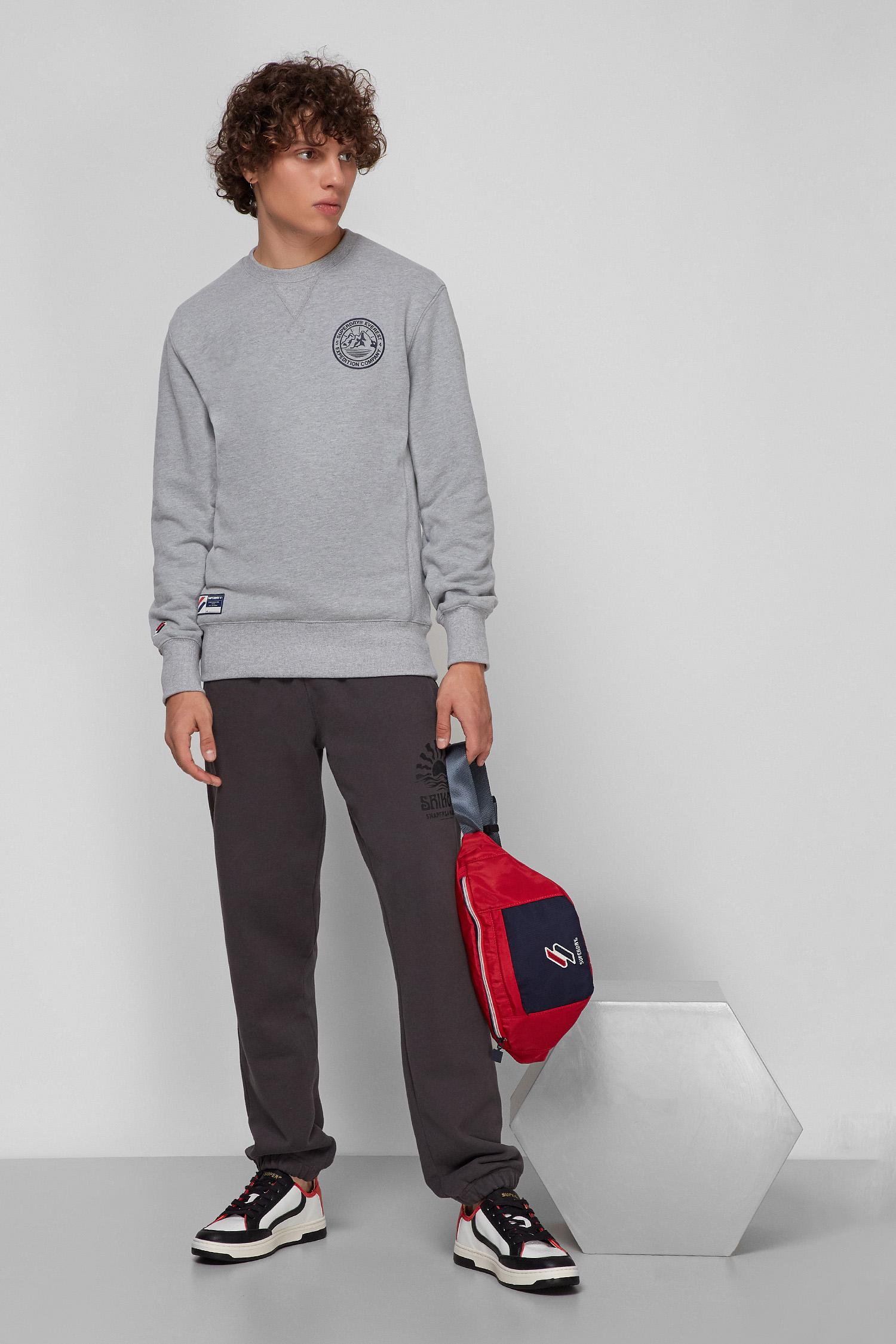 Чоловічі темно-сірі спортивні штани SuperDry M7010553A;AFB
