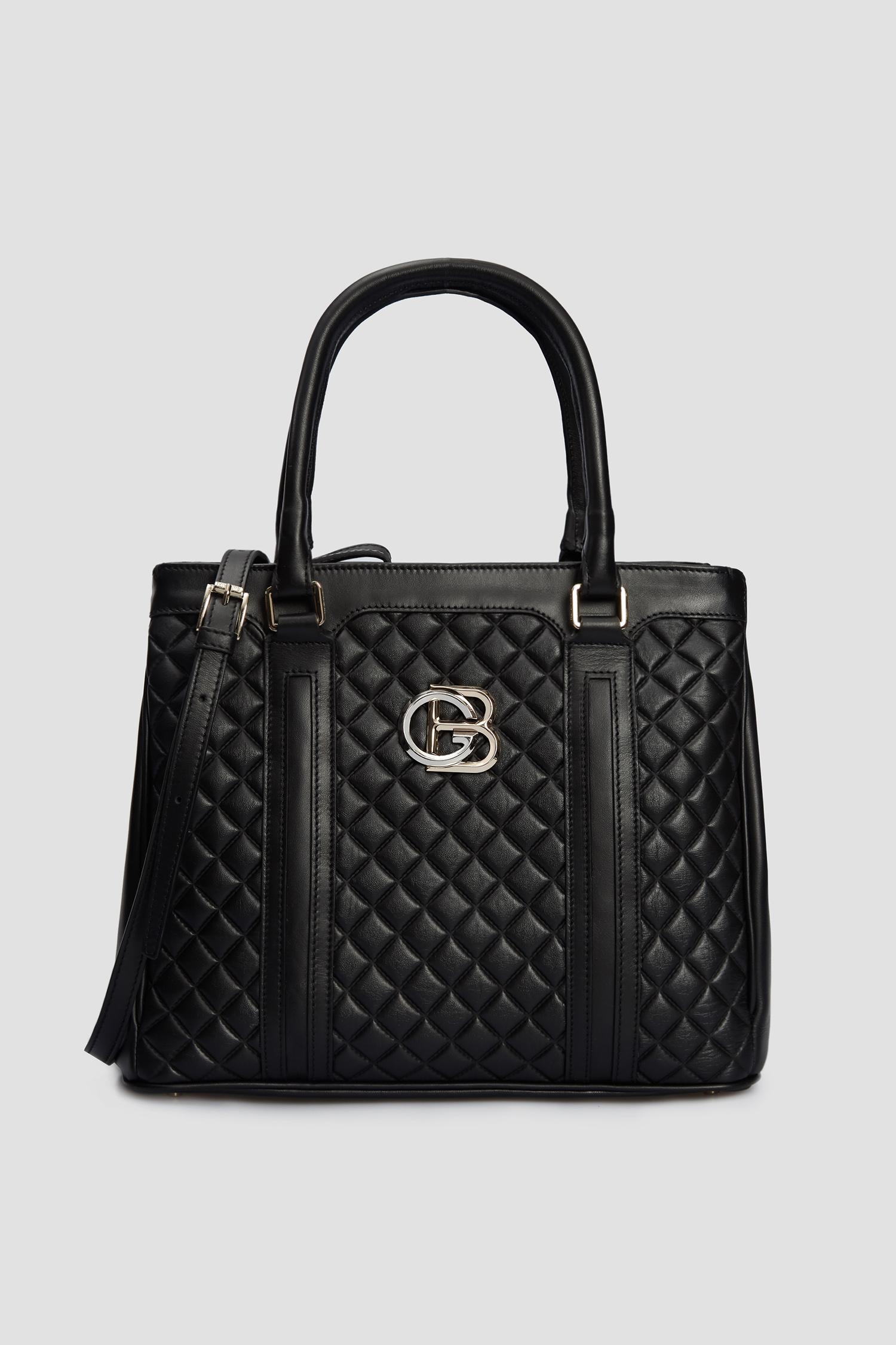 Женская черная кожаная сумка Baldinini 120101;00