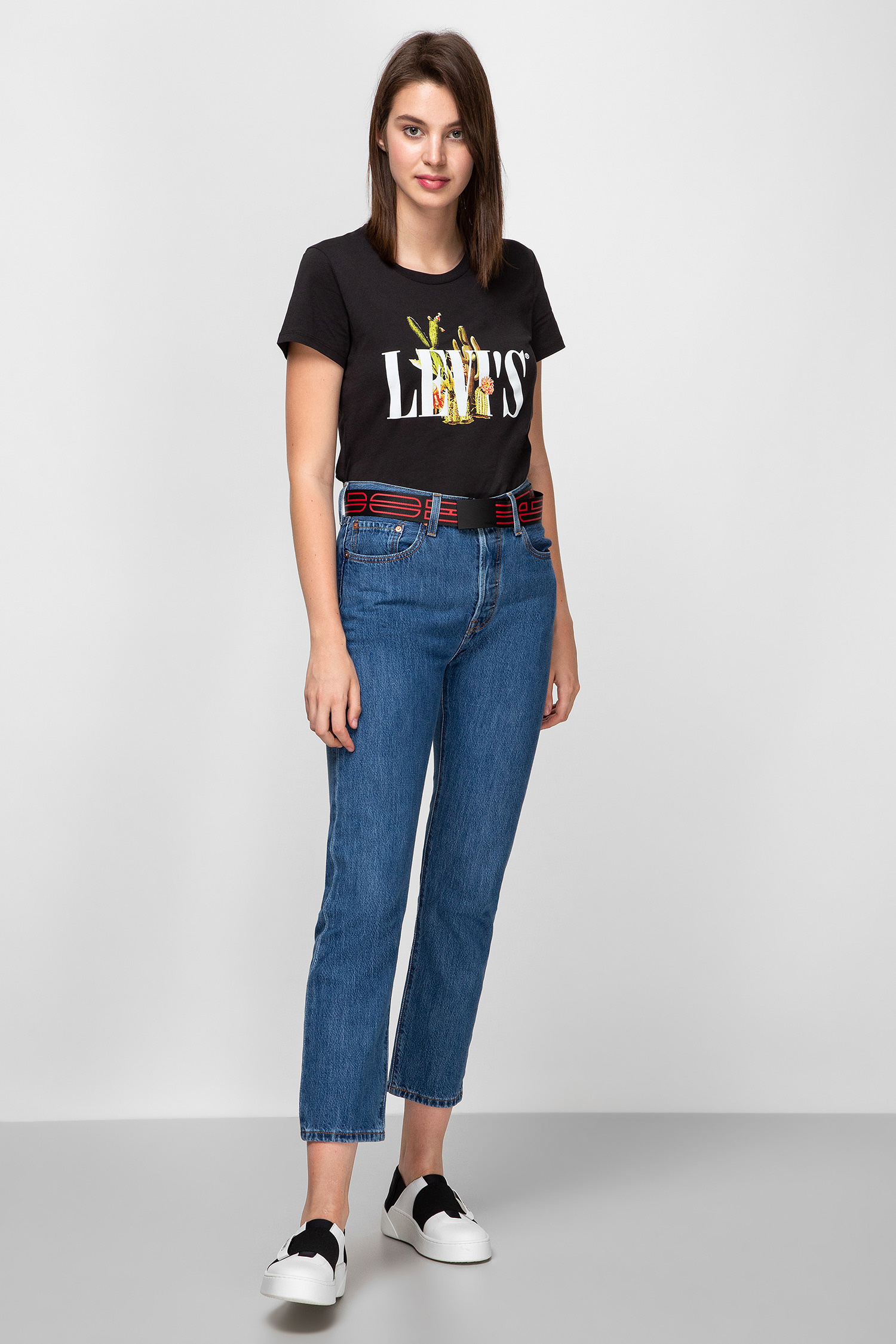 Женские синие джинсы 501 Original Cropped Levi's 36200;0142
