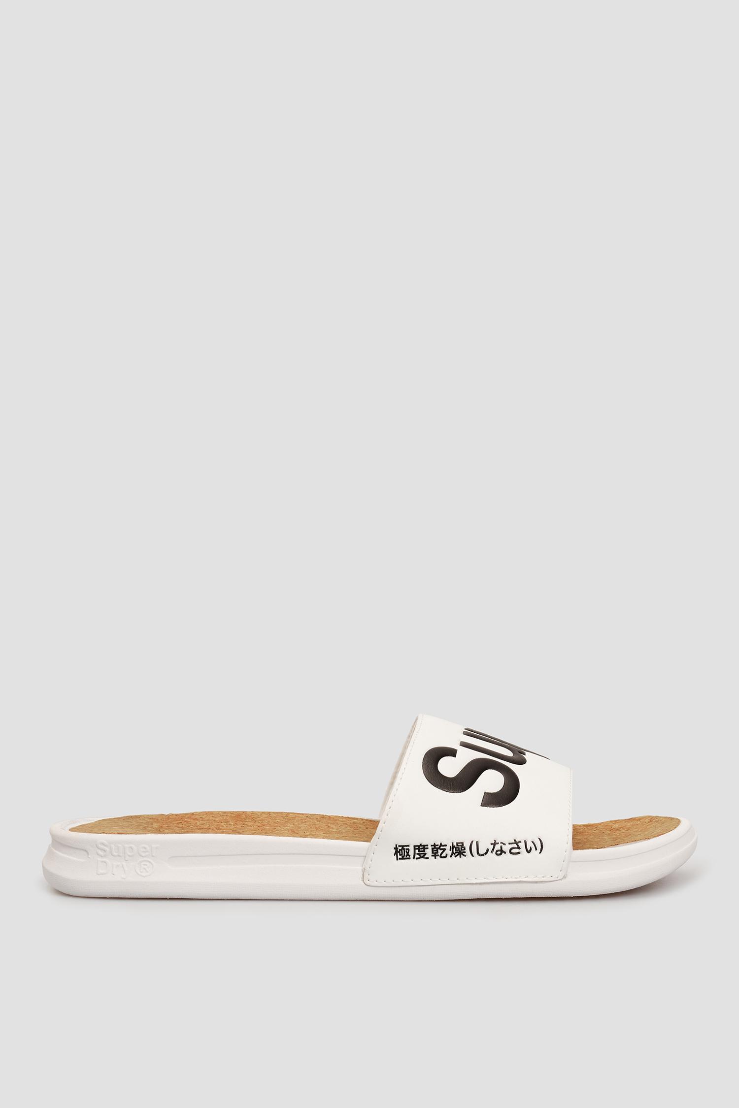 Білі слайдери для хлопців SuperDry MF310130A;01C
