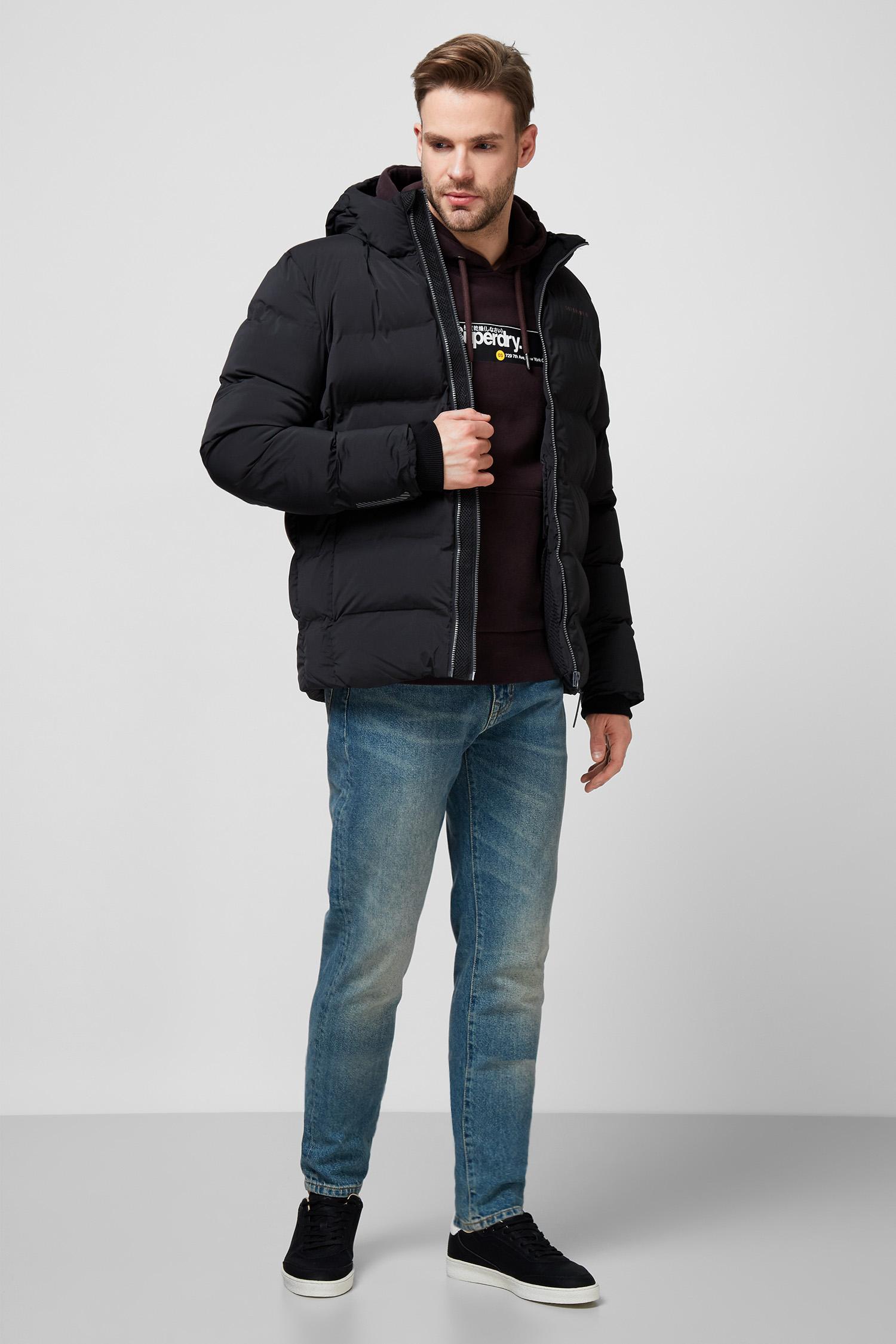 Мужская черная куртка SuperDry MS310285A;02A