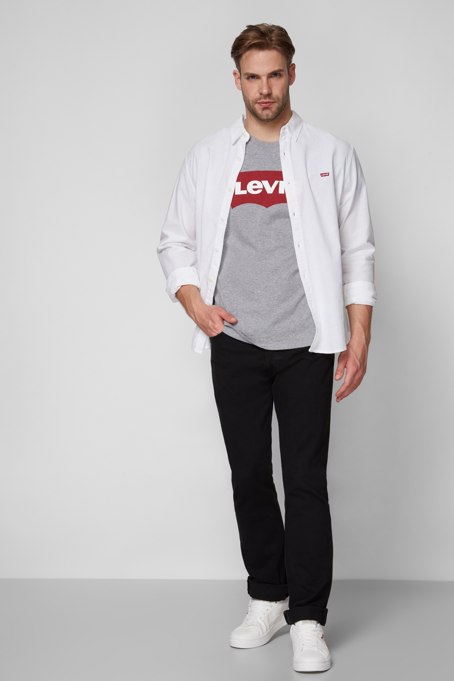 Мужские черные джинсы 501 Original Levi's 00501;0165