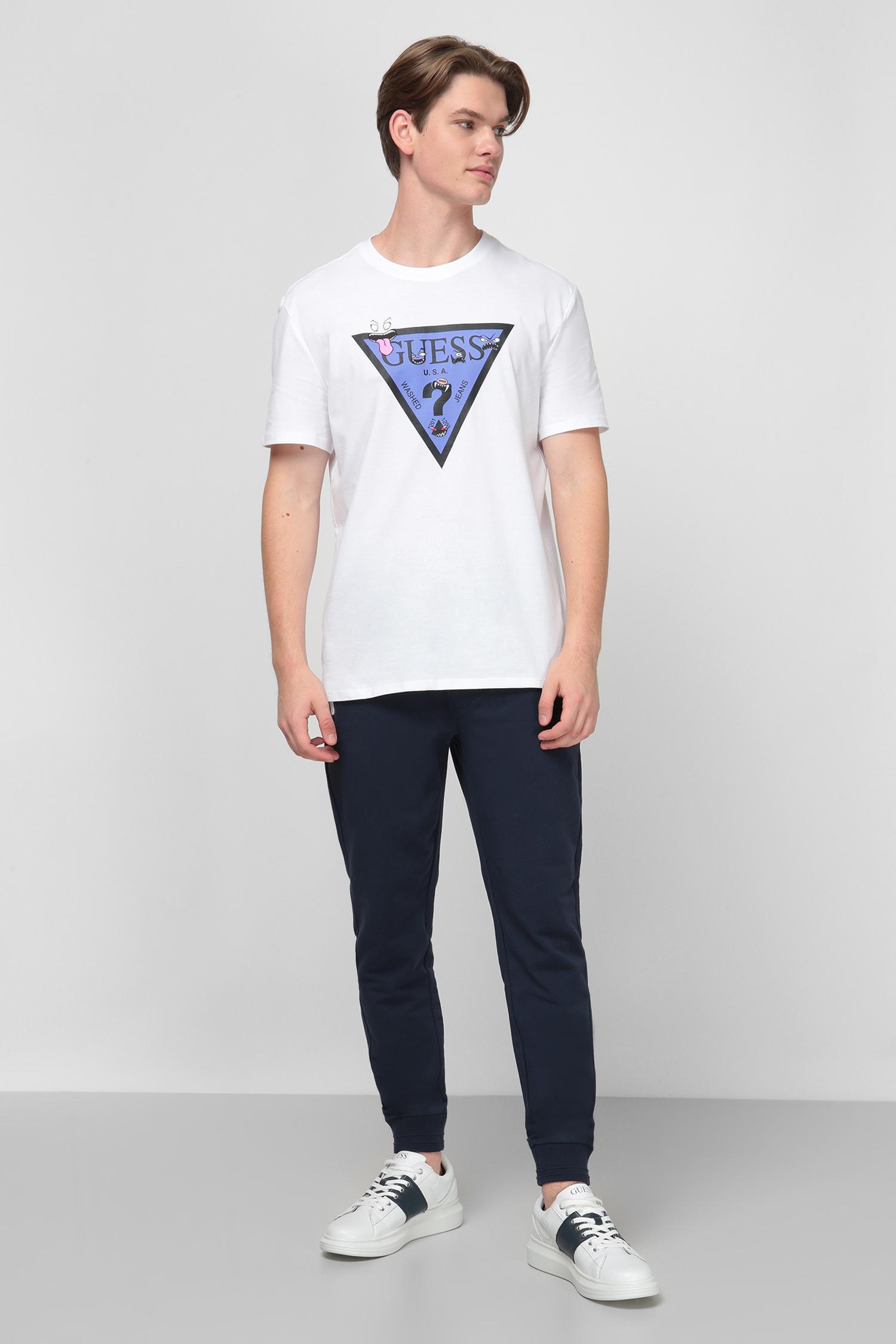 Белая футболка с принтом для парней Guess M0YI51.I3Z00;TWHT