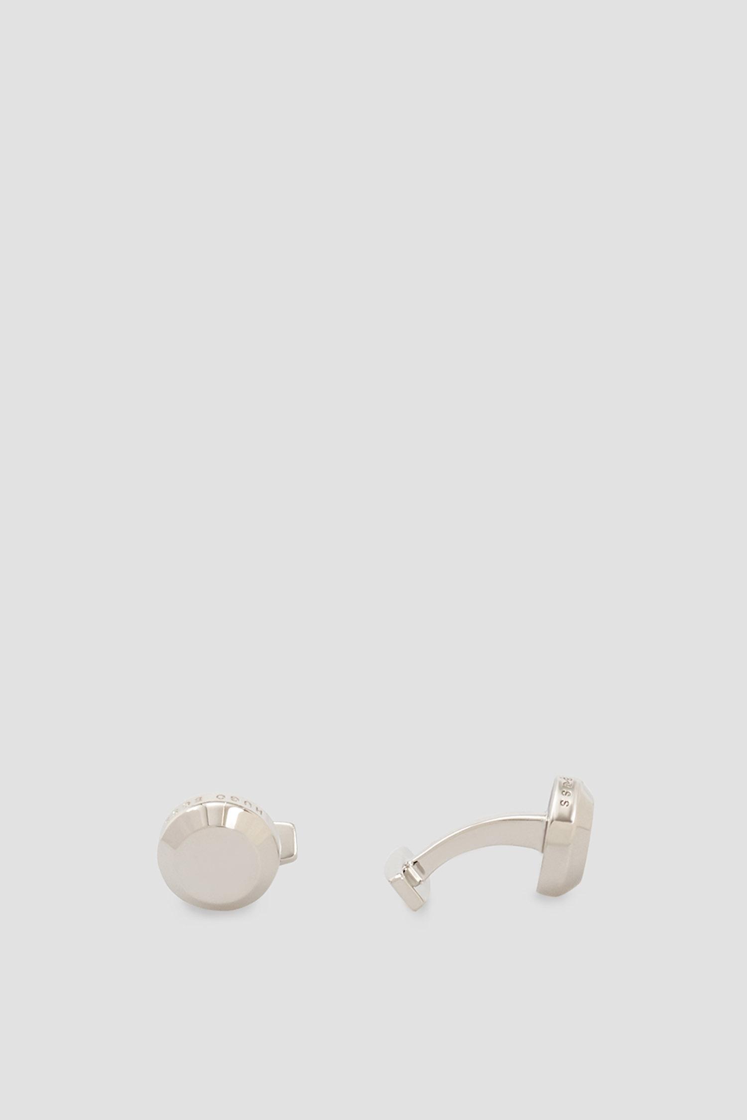 Мужские серебристые запонки BOSS 50428248;040