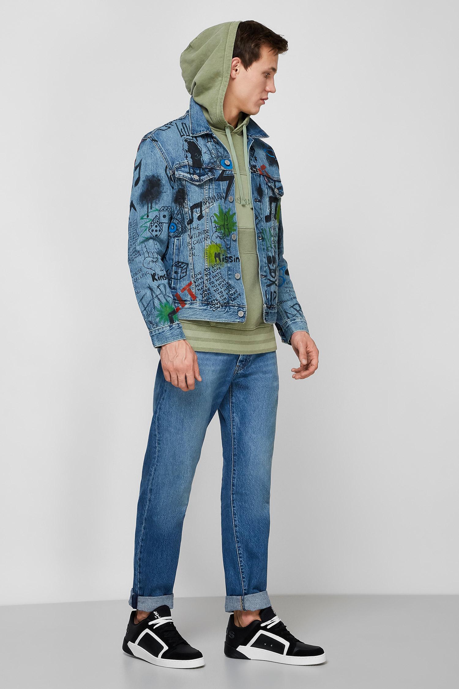Мужская синяя джинсовая куртка Angelov Custom Levi's 72334;0351T(41)