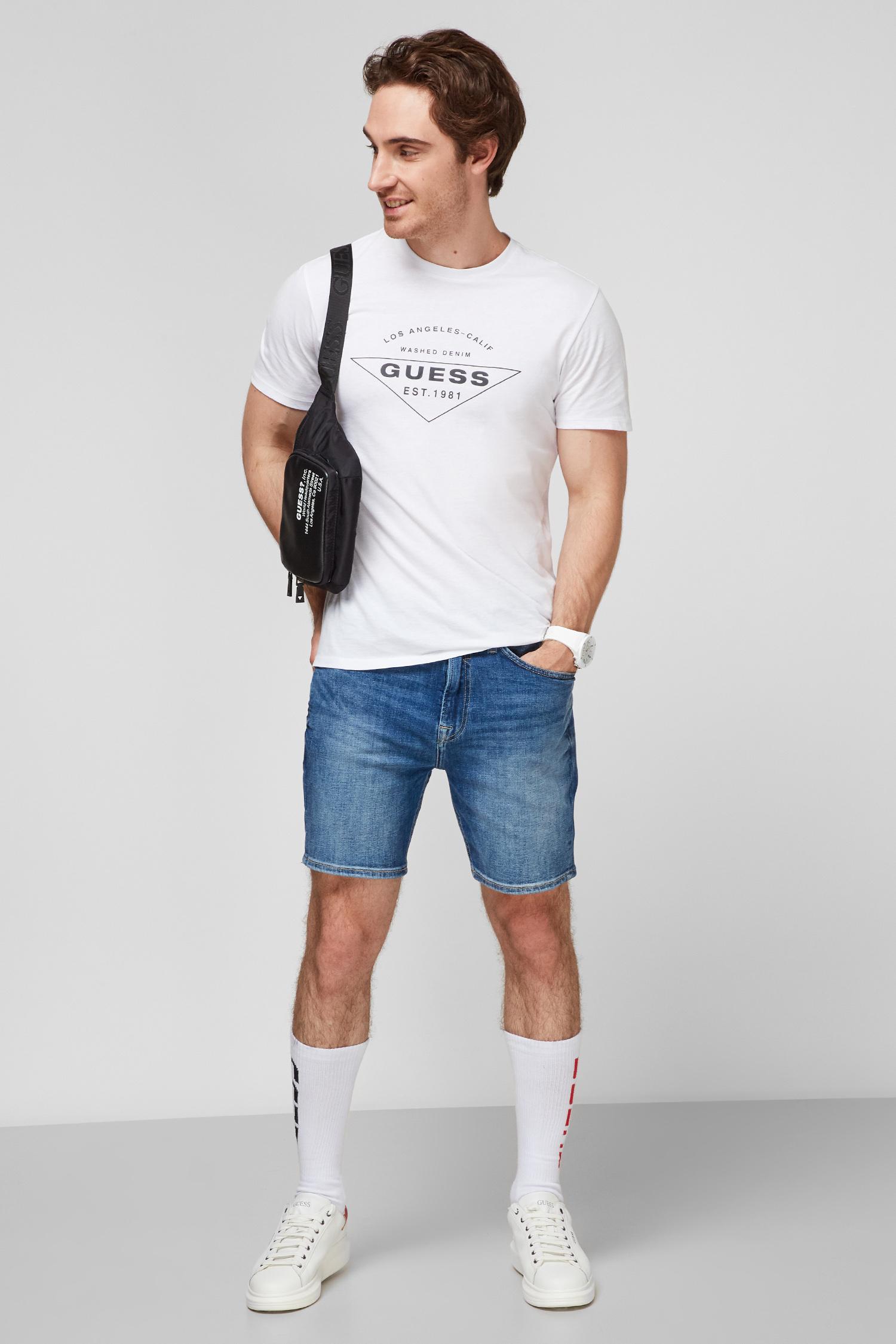 Чоловічі сині джинсові шорти Guess M1GD10.D4B71;DUKS