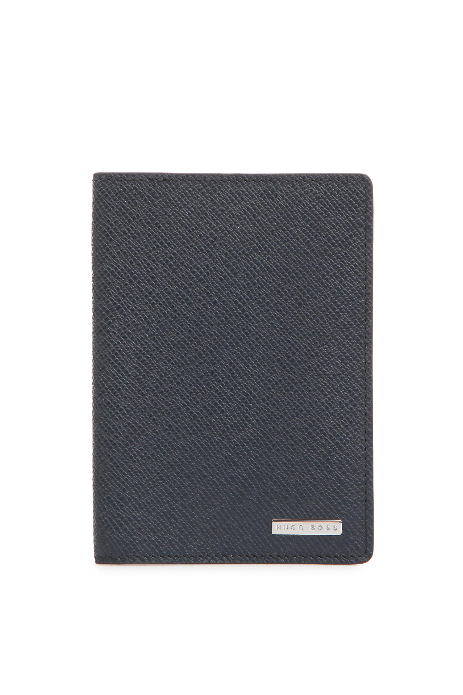 Мужская синяя кожаная обложка для паспорта BOSS 50311854;401