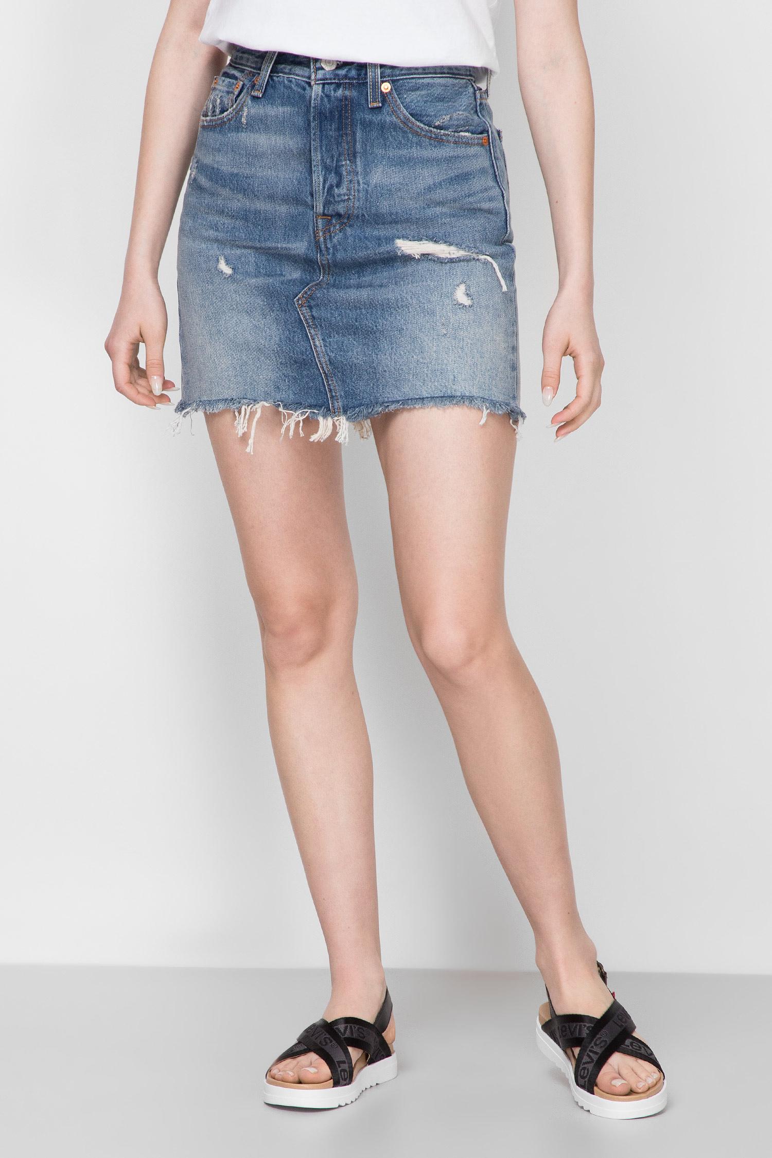 Жіноча синя джинсова спідниця Deconstructed Iconic Boyfriend Levis 77882;0011
