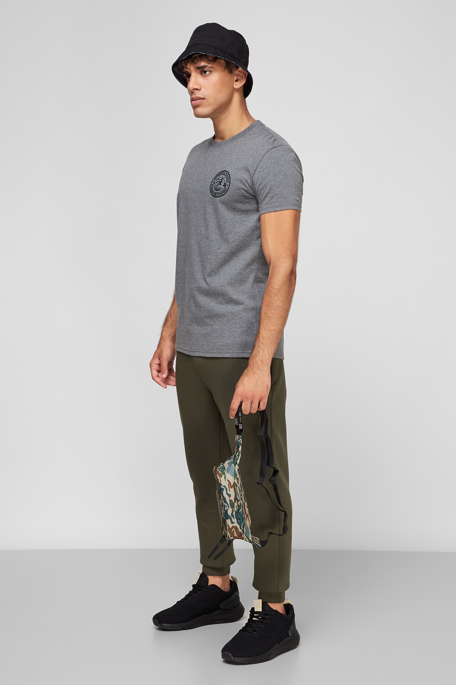 Чоловіча сіра футболка SuperDry M1011111A;HEB