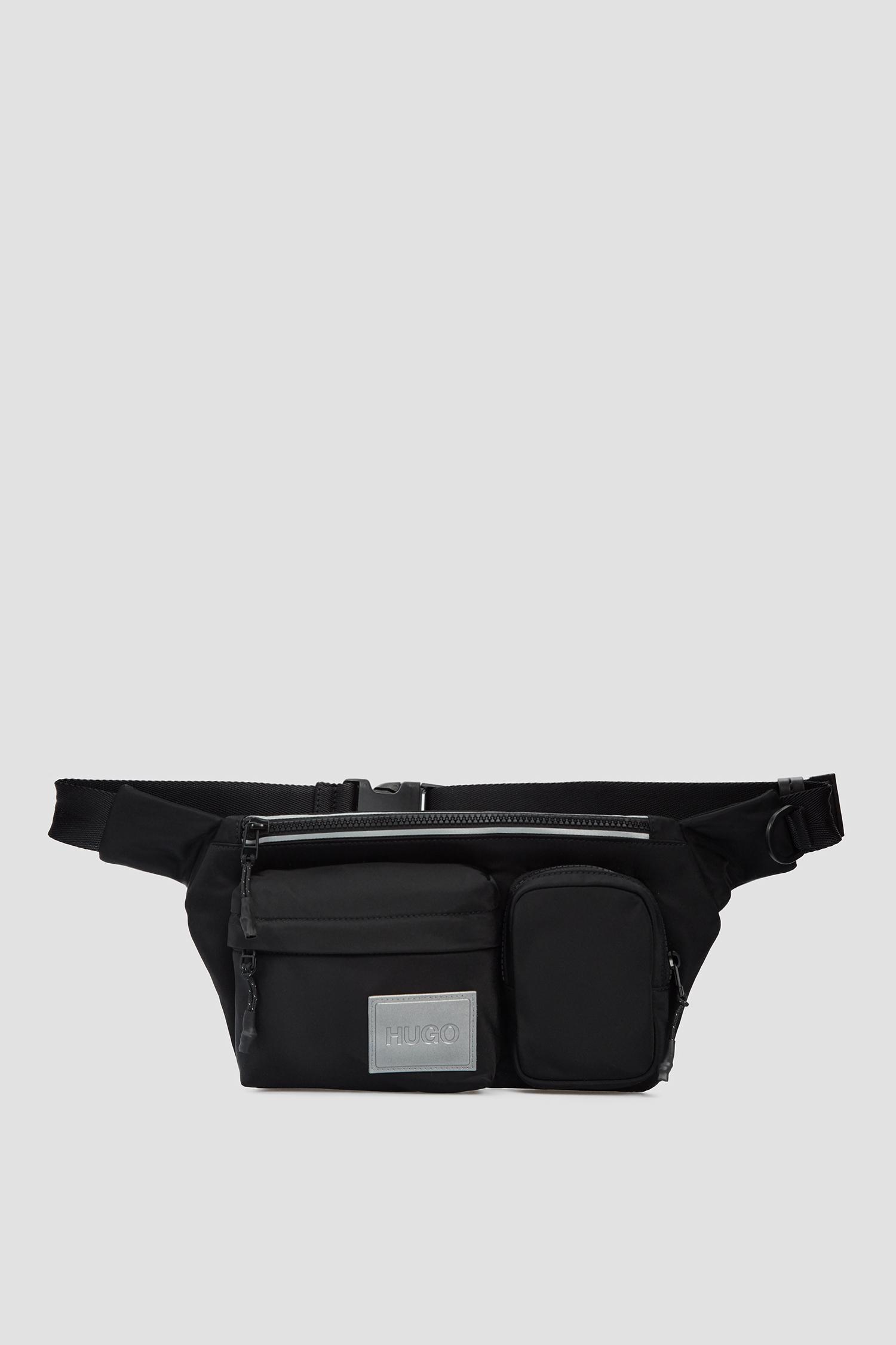 Мужская черная поясная сумка HUGO 50442756;001