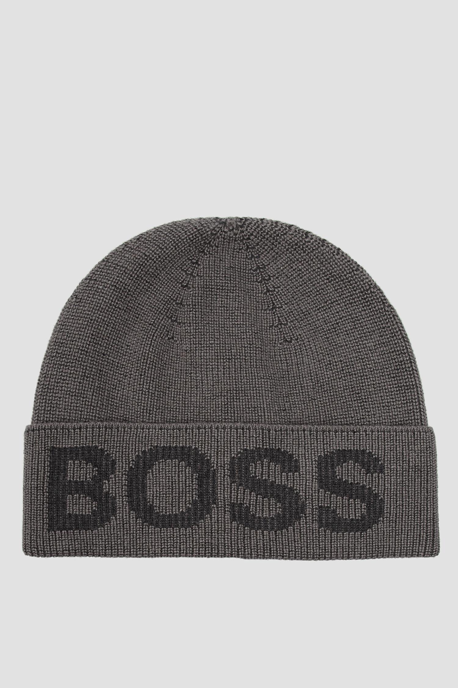 Чоловіча сіра шапка BOSS 50455707;030