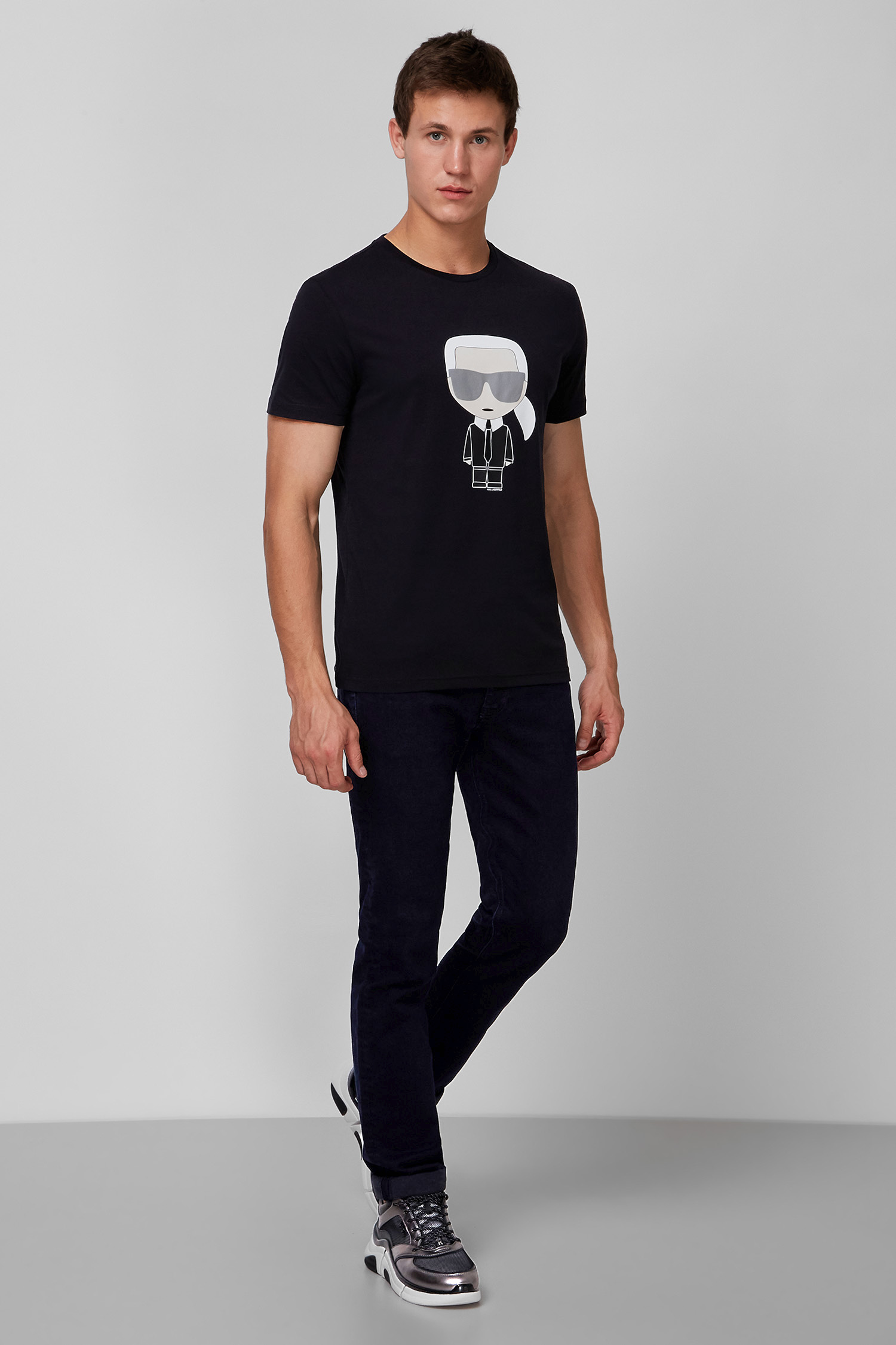 Мужская черная футболка Karl Lagerfeld 502251.755061;990