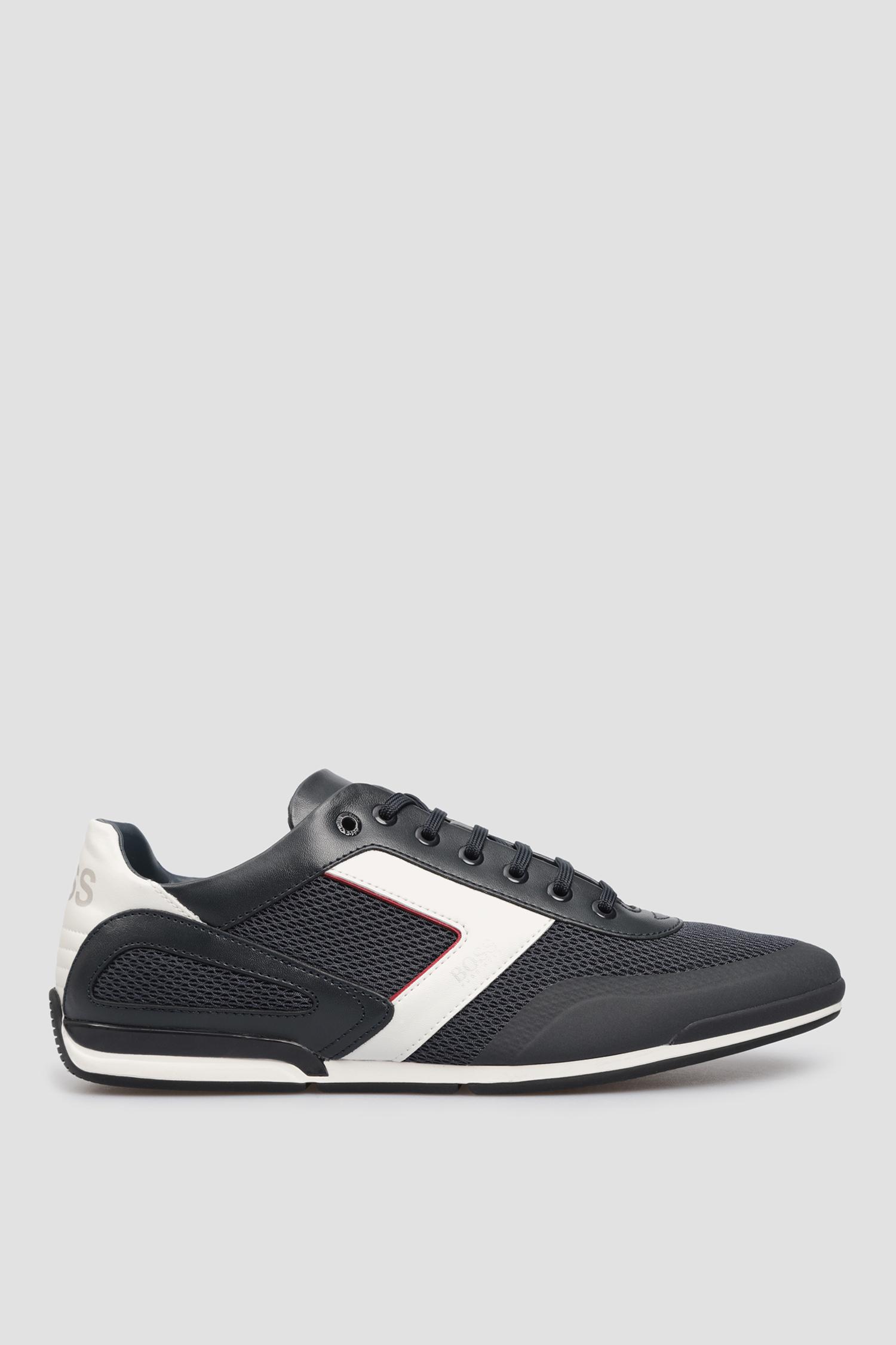 Темно-синие кроссовки для парней BOSS 50445677;401