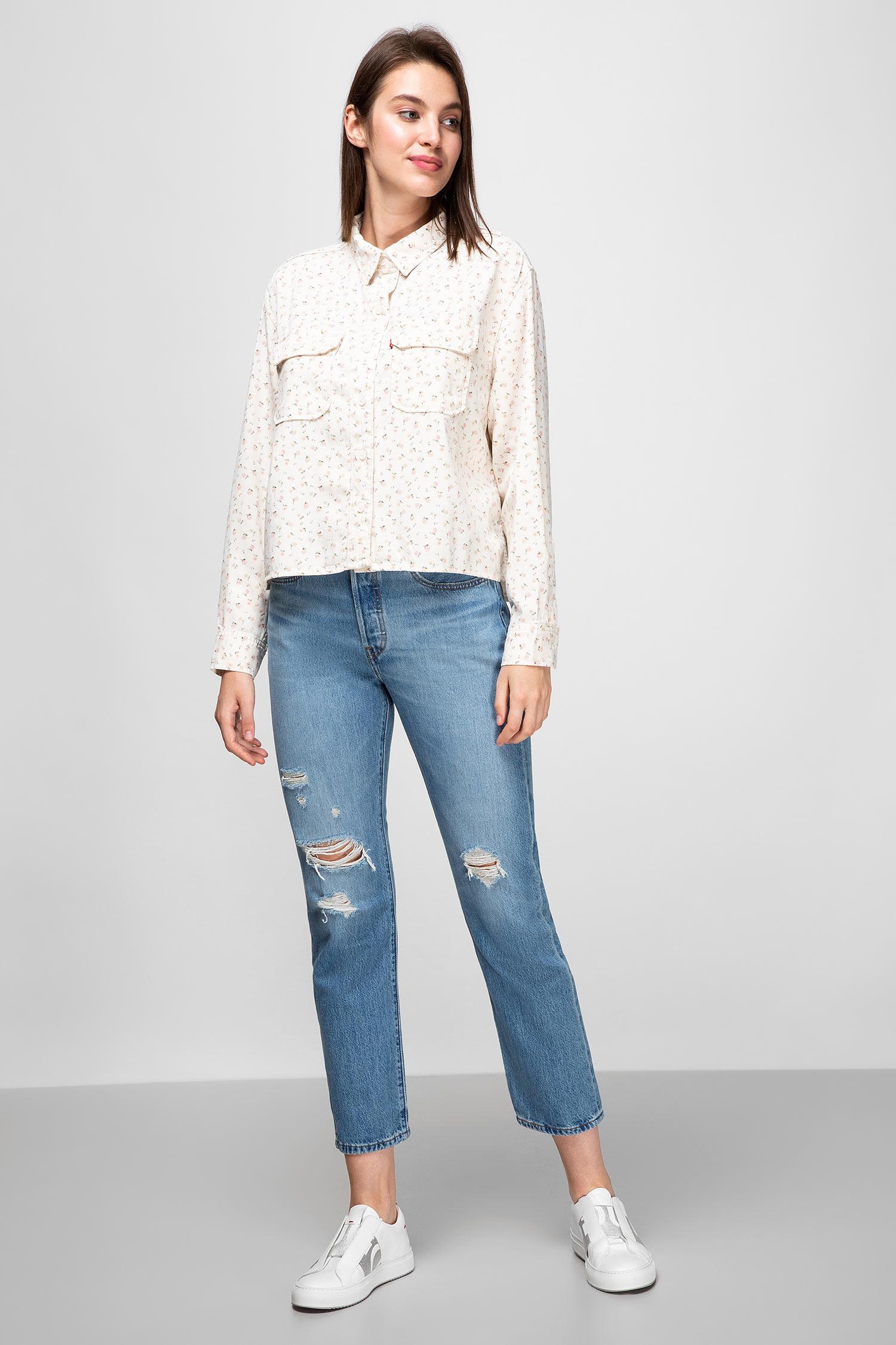 Женская белая рубашка с узором Levi's 22652;0005
