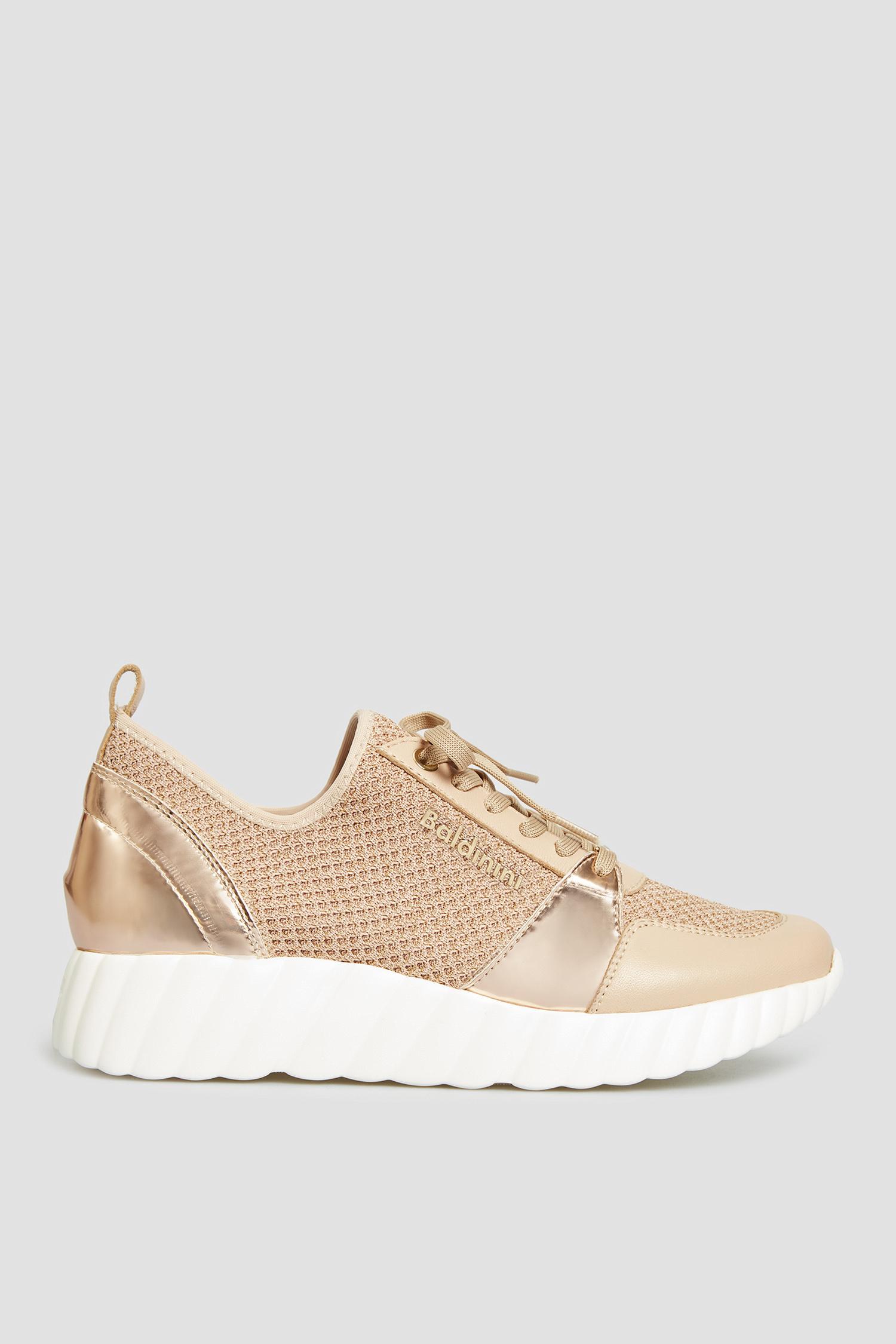 Бежевые кроссовки для девушек Baldinini 198400;986598