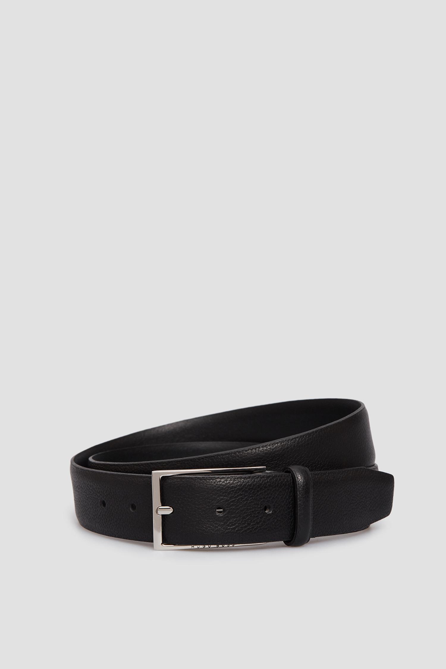 Мужской черный кожаный ремень BOSS 50447129;001