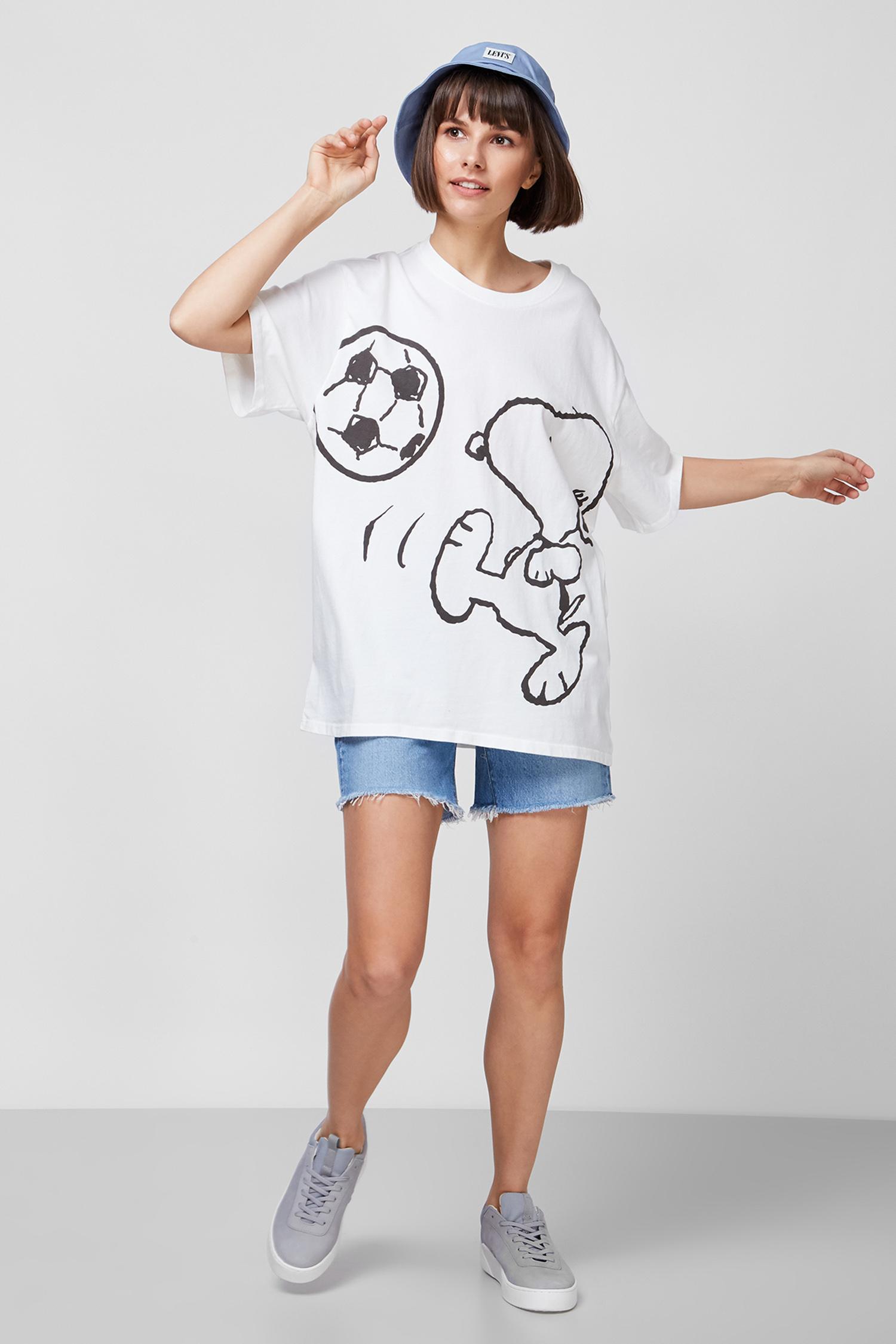 Женская белая футболка Levi's x Peanuts Levi's 56152;0003