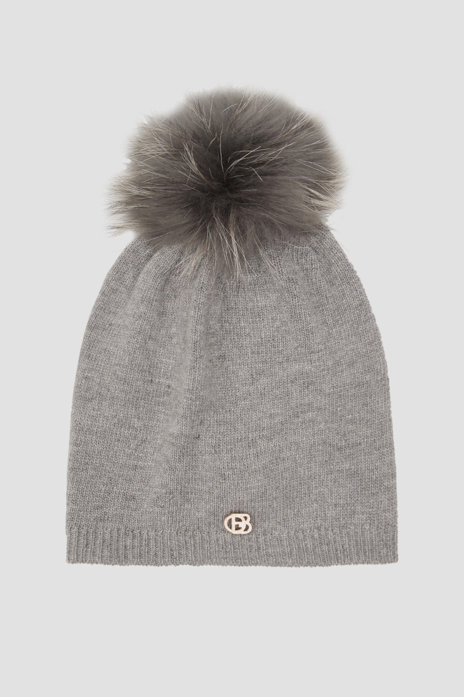 Серая шерстяная шапка для девушек Baldinini 121502;06
