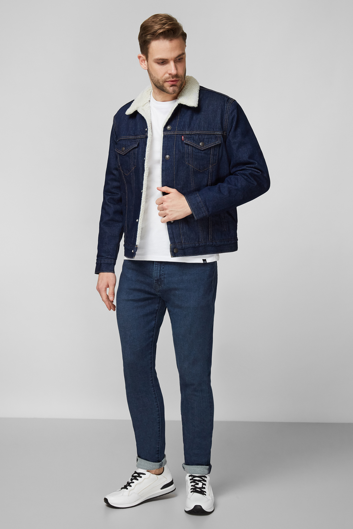 Чоловіча темно-синя джинсова куртка Levi's 16365;0084