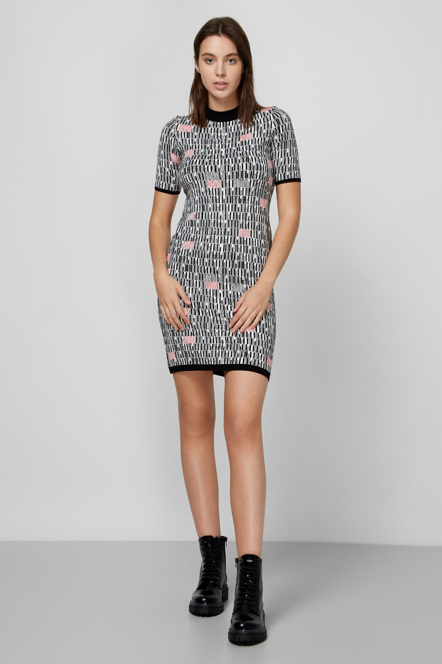 Женское платье с узором HUGO 50432143;969