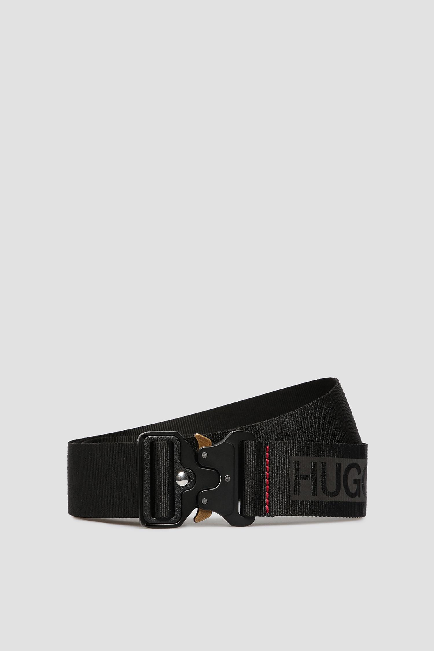 Мужской черный ремень HUGO 50430349;001