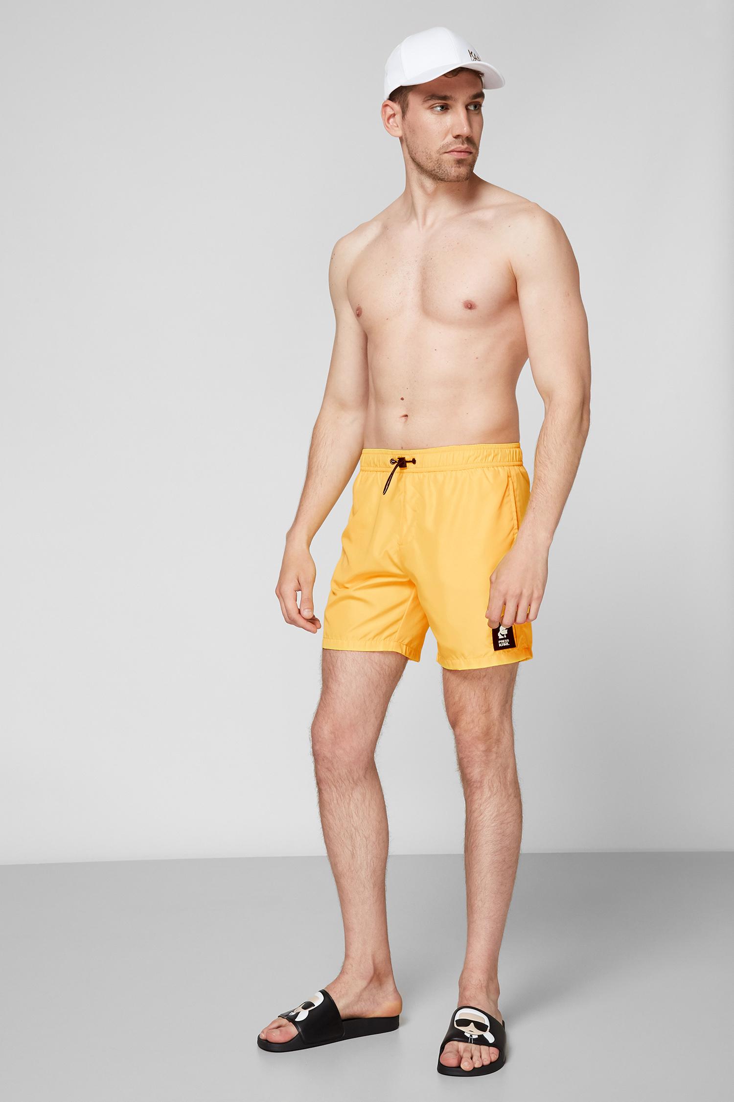 Мужские желтые плавательные шорты Karl Lagerfeld KL21MBM01;YELLOW