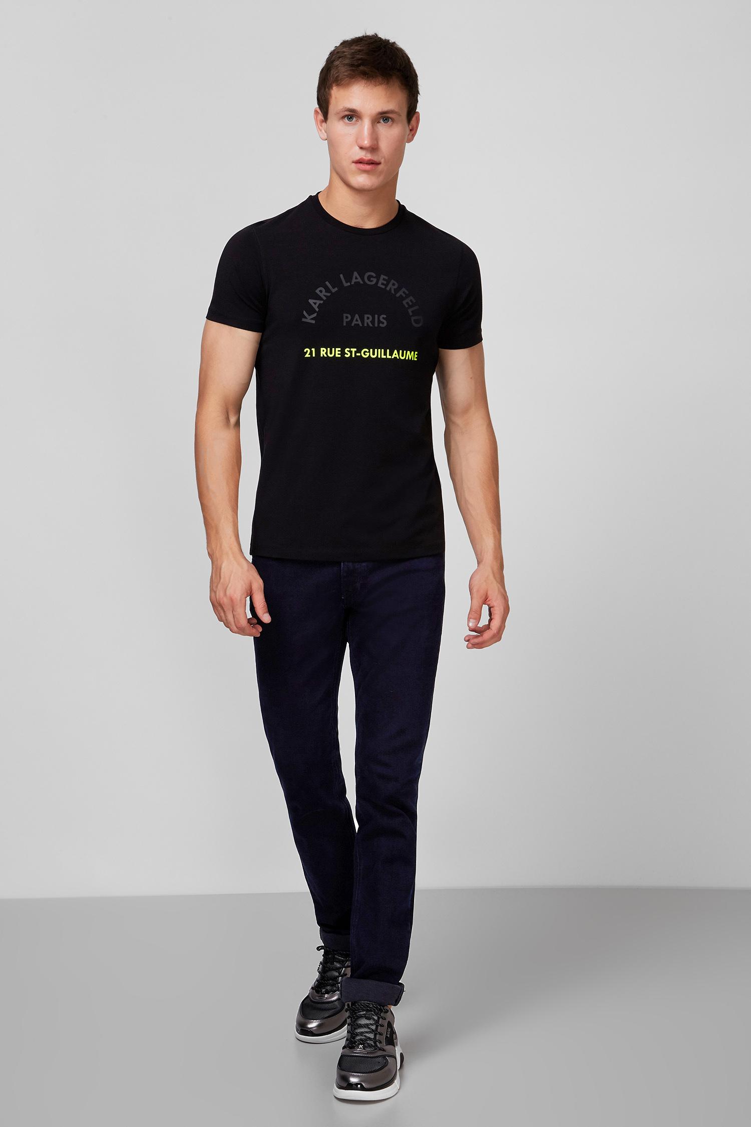 Мужская черная футболка Karl Lagerfeld 502221.755072;990