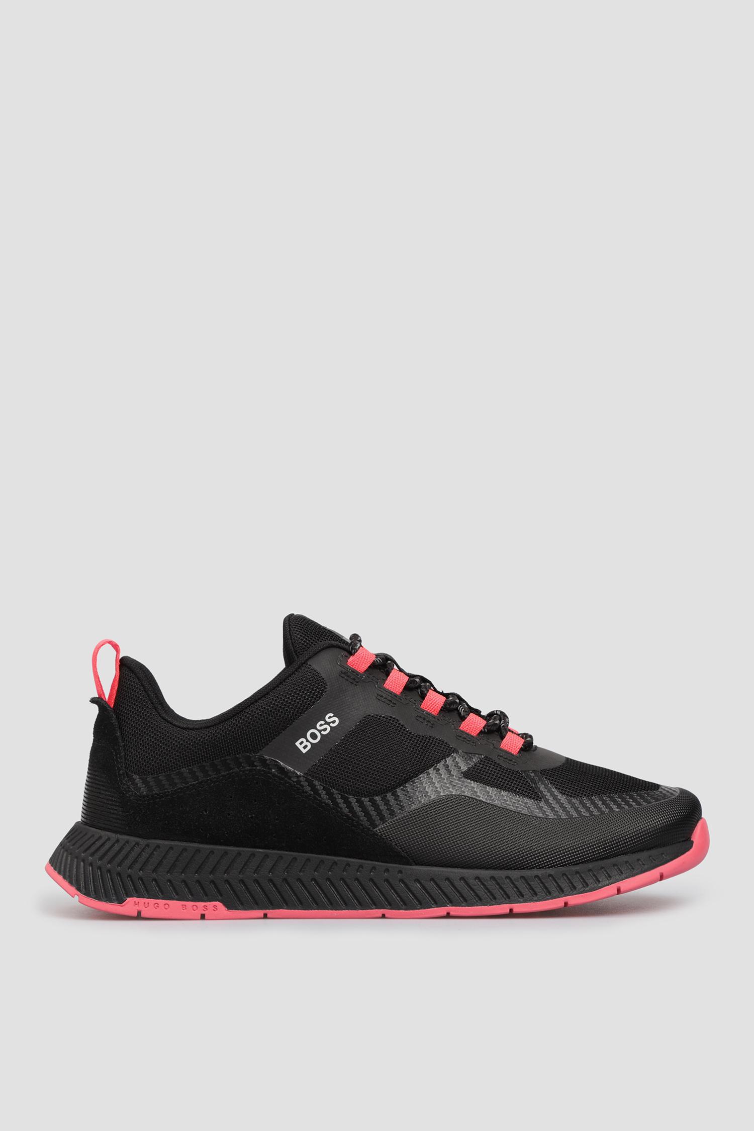 Черные кроссовки для девушек BOSS 50448123;001